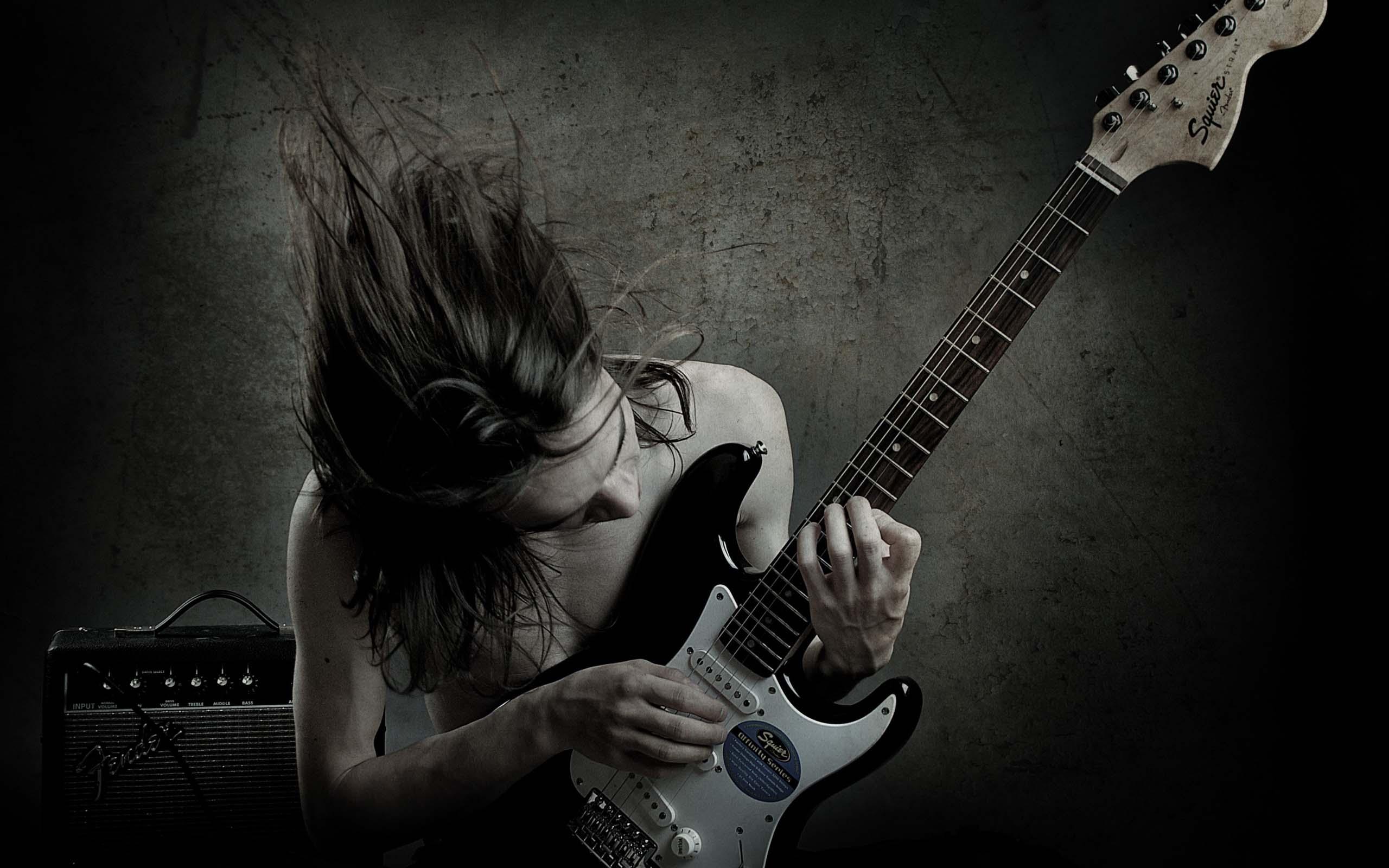 Artistic Cool Guitar Wallpaper
