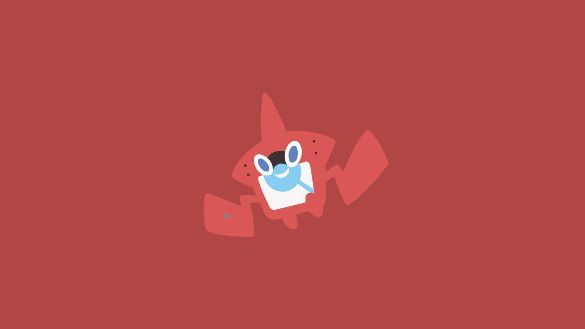 Minimalistic Wallpaper: Rotom [Pokedex] (#479.7) by MardGeerT on ...