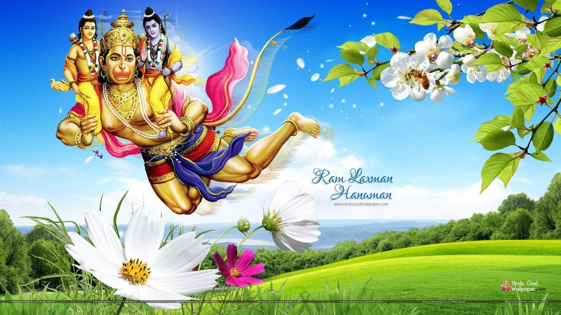 Shri Ram Laxman Hanuman HD Wallpaper Free Download
