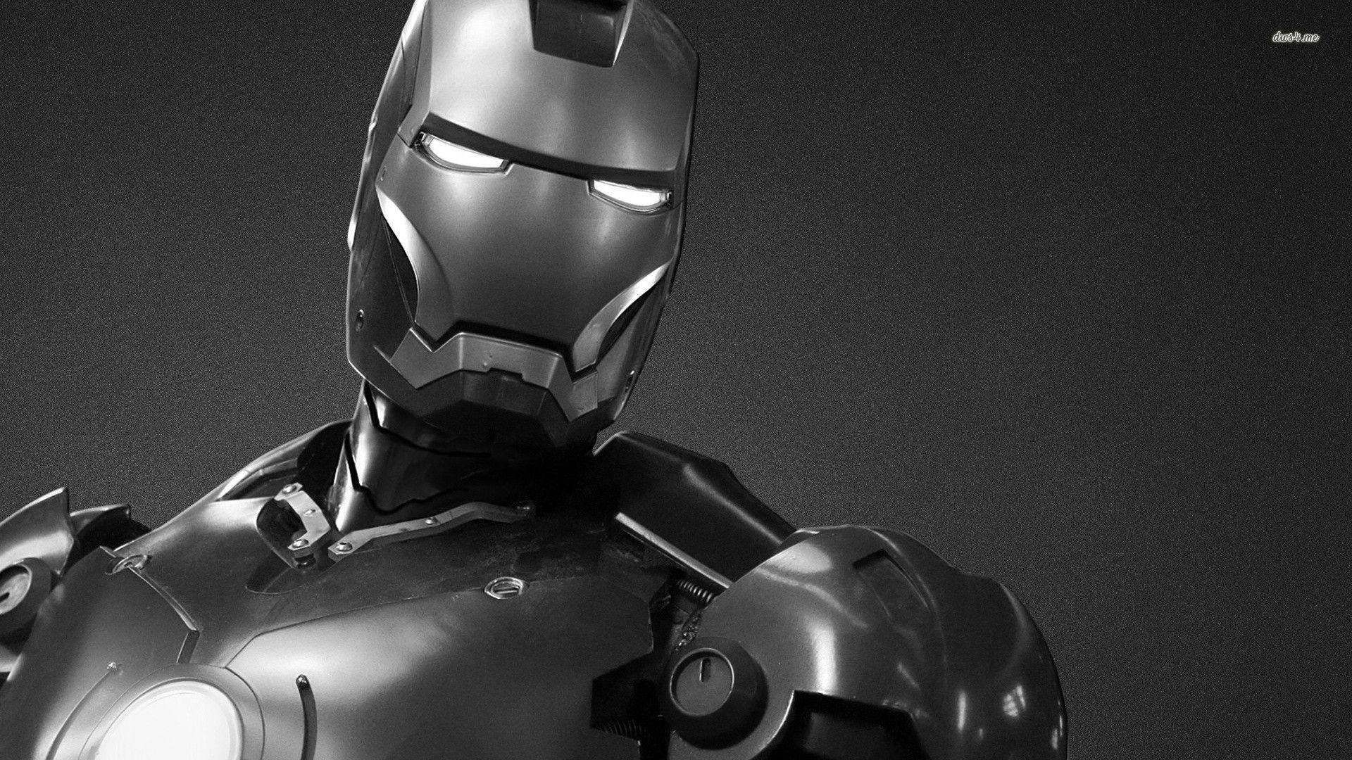 black iron man hd wallpaper
