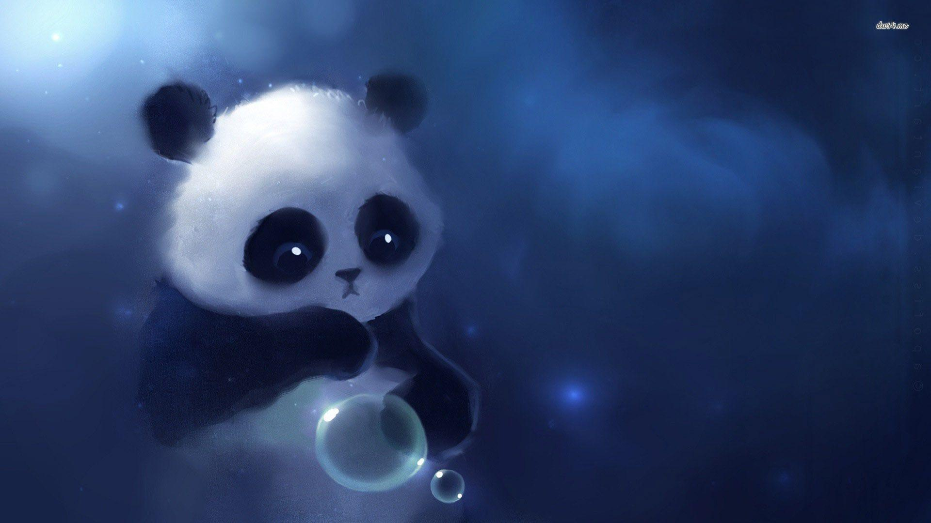 Kawaii Panda Wallpapers Wallpaper Cave