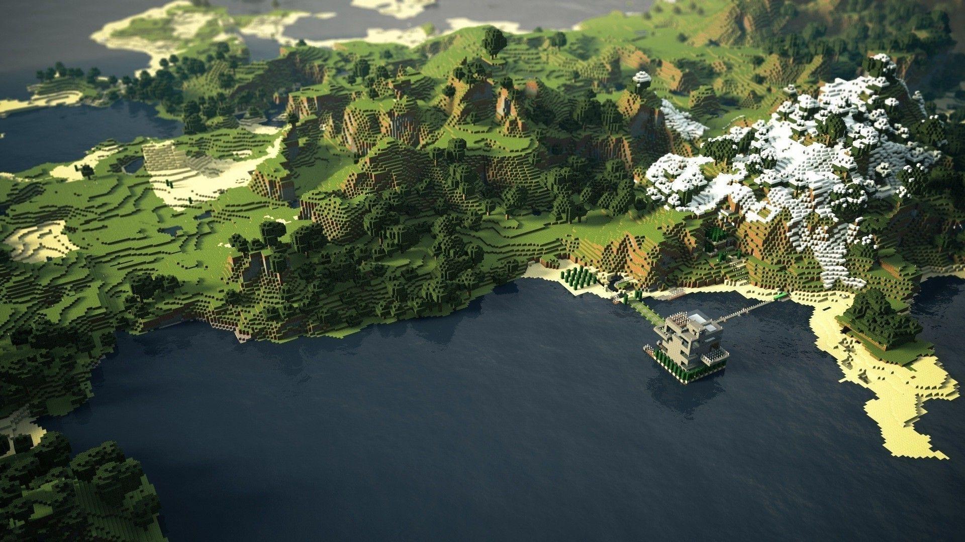Minecraft World Backgrounds Wallpaper Cave