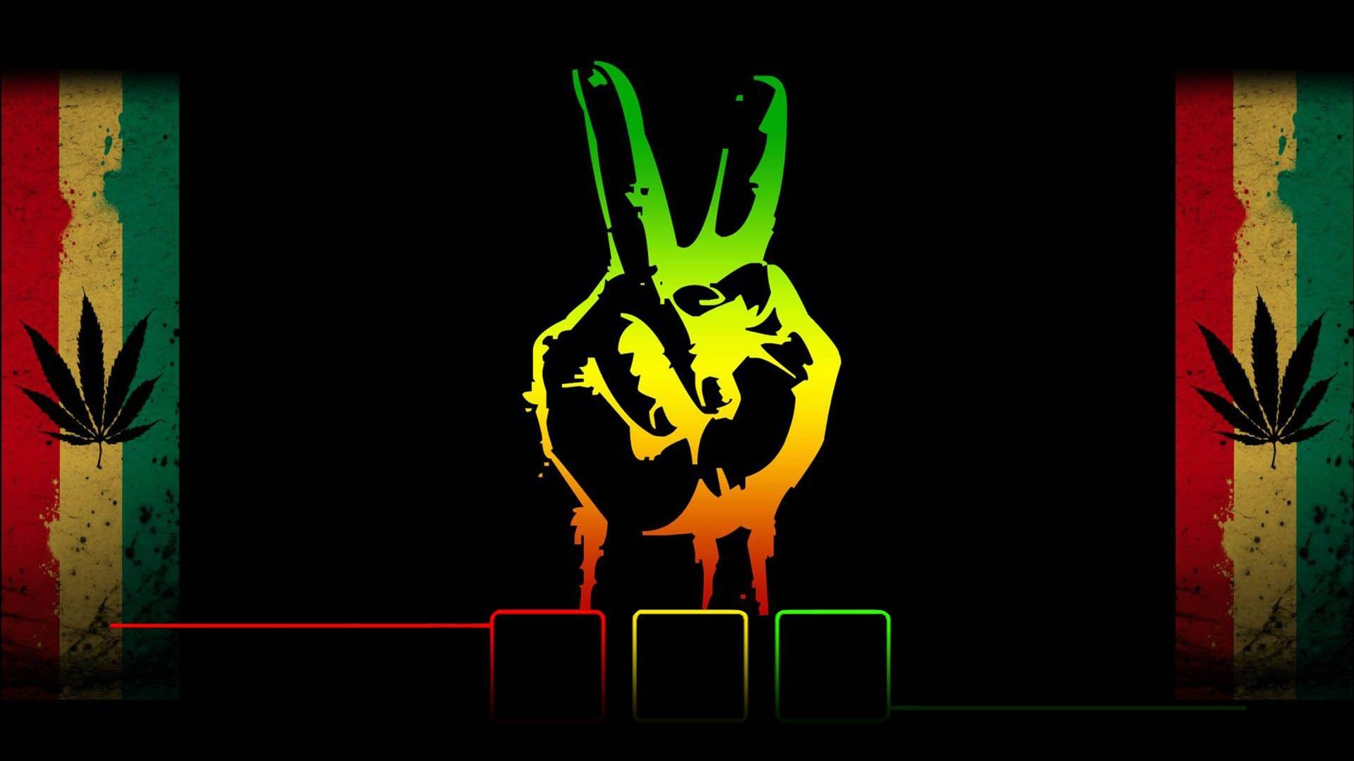 Trippy Rasta Weed Backgrounds HD Wallpaper Background Images
