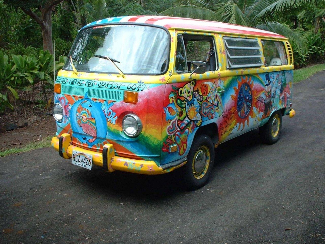 Volkswagen Bus Hippie Style wallpapers