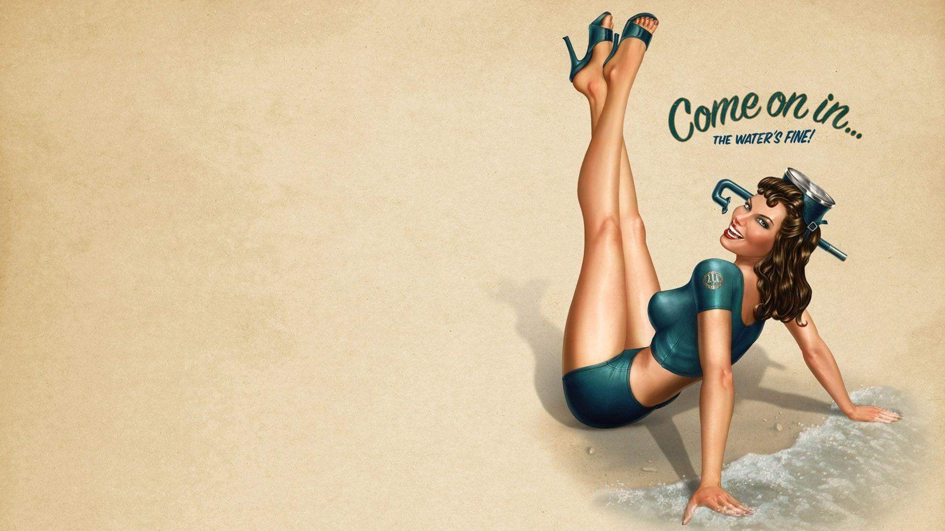 Vintage Pin Up Hd Wallpapers Wallpaper Cave