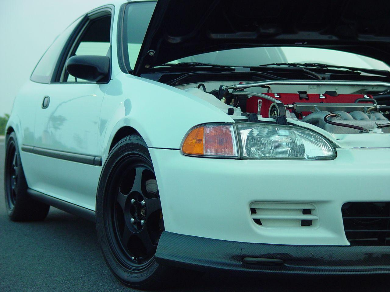 Wallpaper]Honda Civic White EG Hatchback
