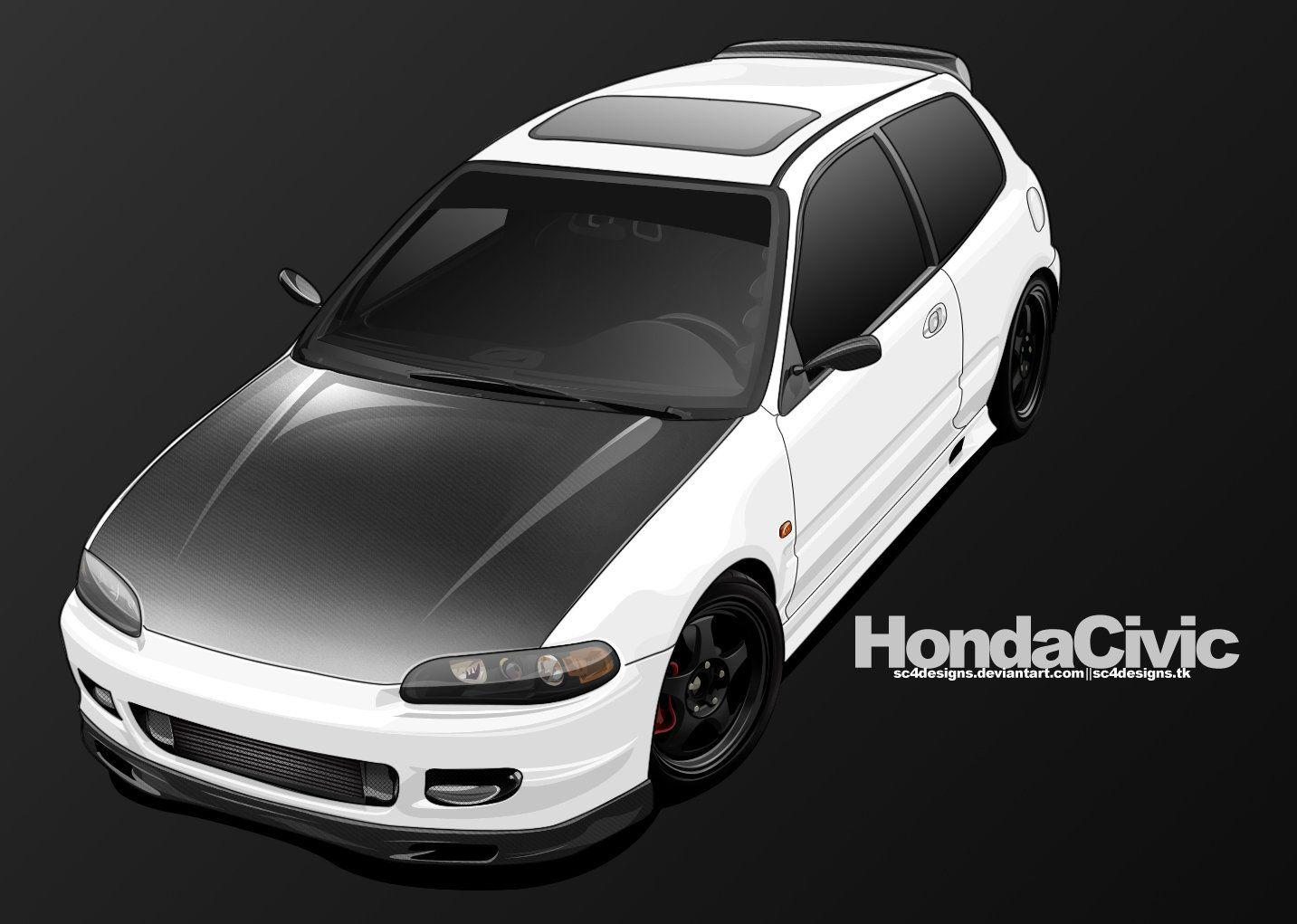 Honda Civic Toon by sc4designs