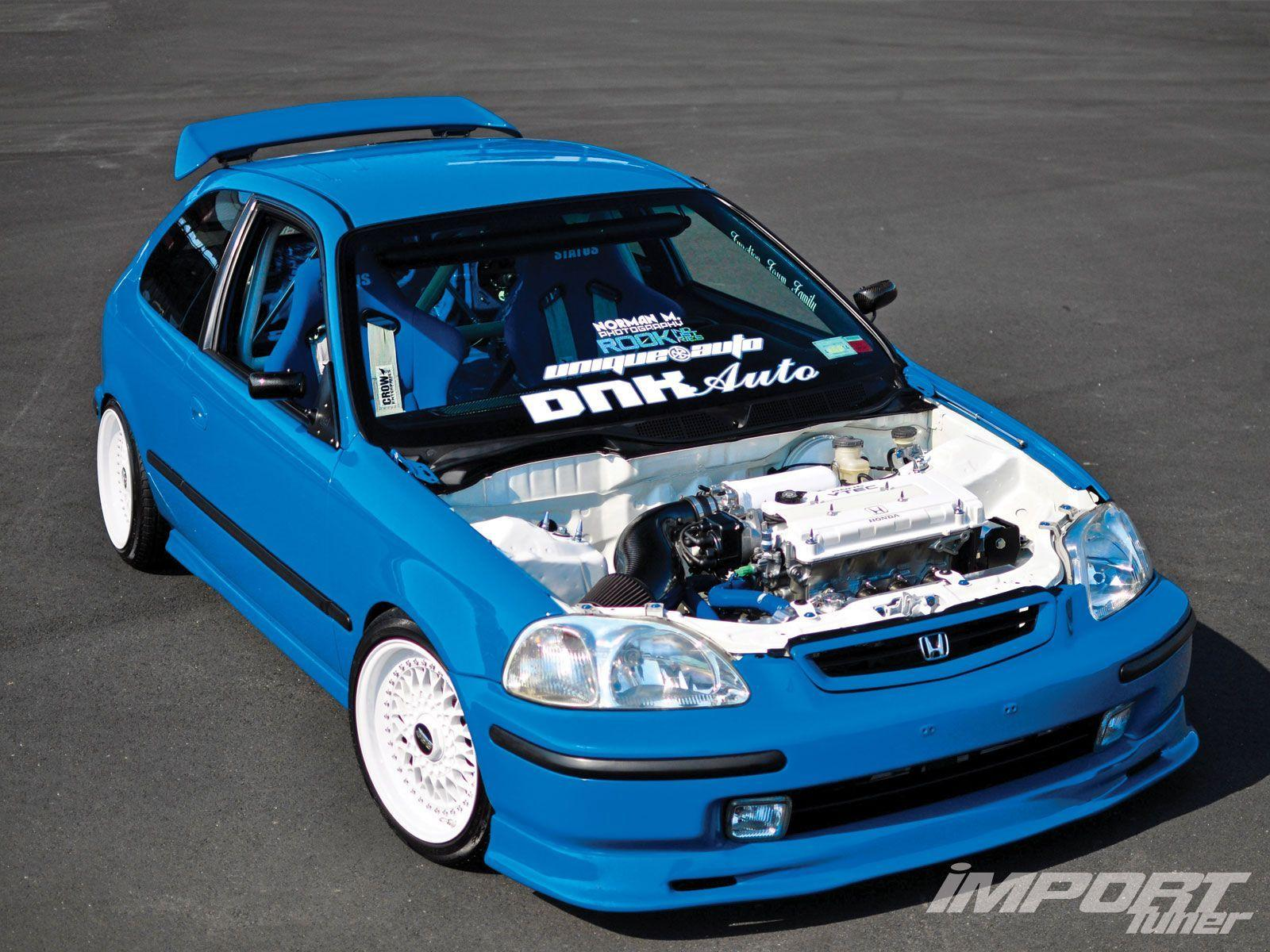 Honda Civic blue Gen ♤... X Bros Apparel