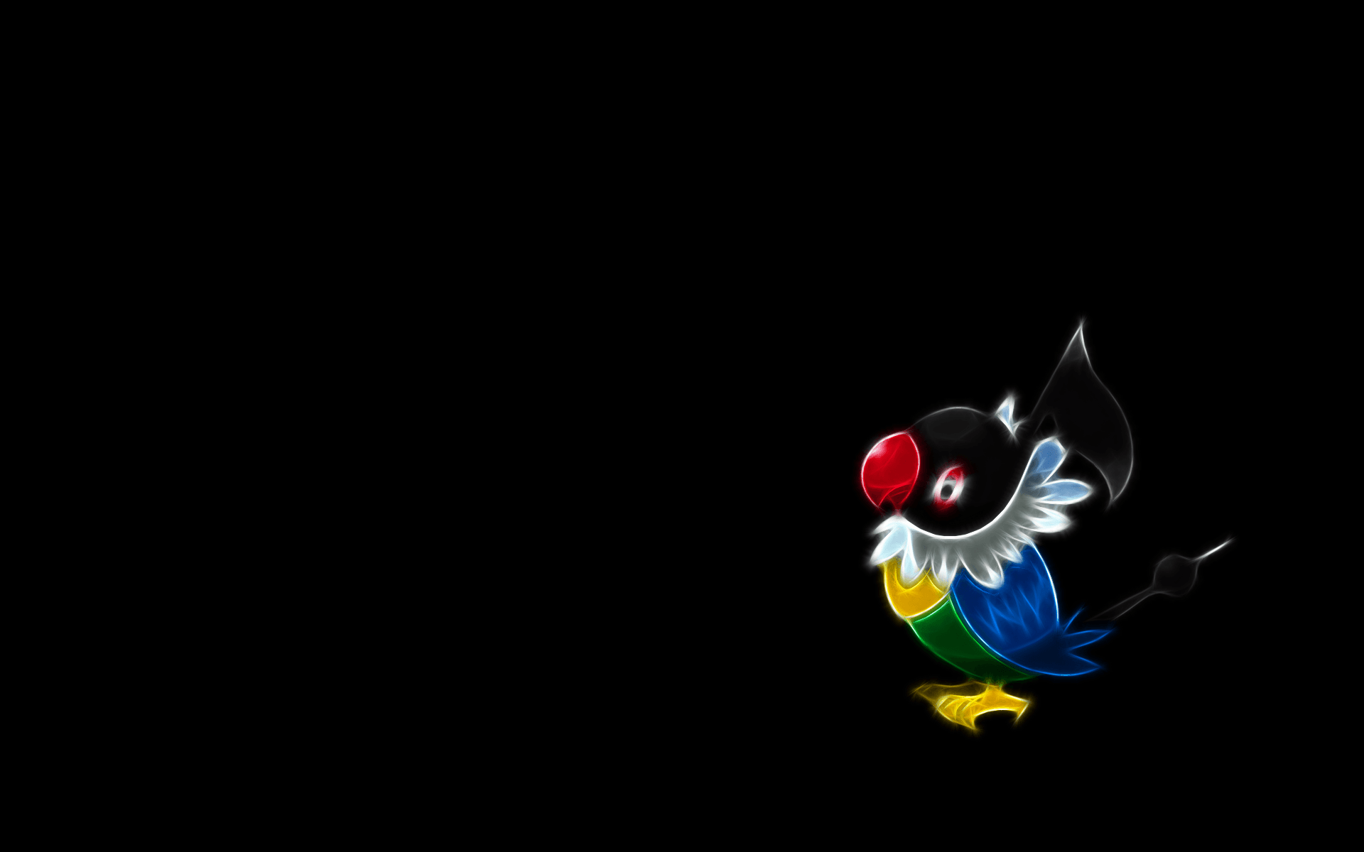 The Images of Pokemon Black Background Chatot 1920x1200 HD ...