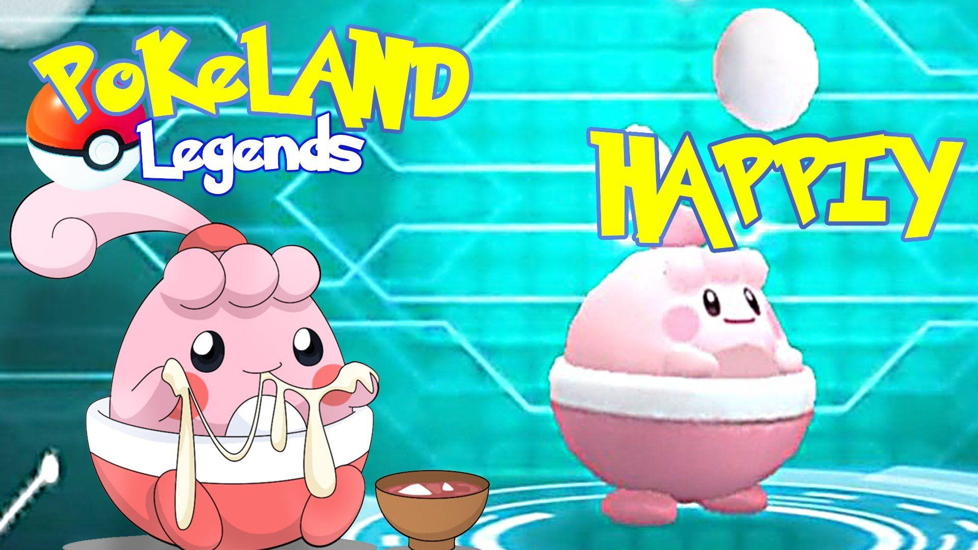 POKELAND LEGENDS - Cutie Happiny!! - YouTube
