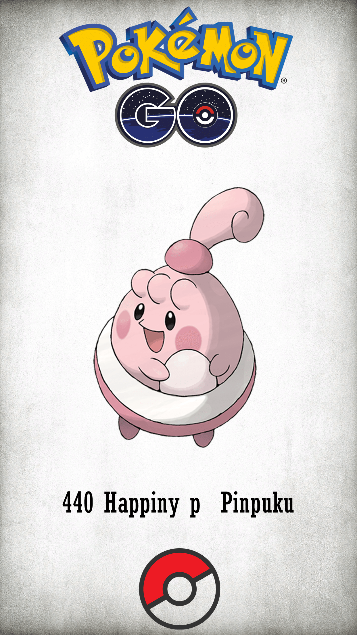 440 Character Happiny p Pinpuku | Wallpaper