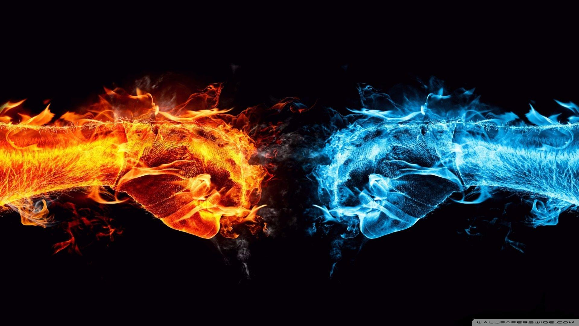 Blue And Red Fire Wallpapers Wallpaper Cave