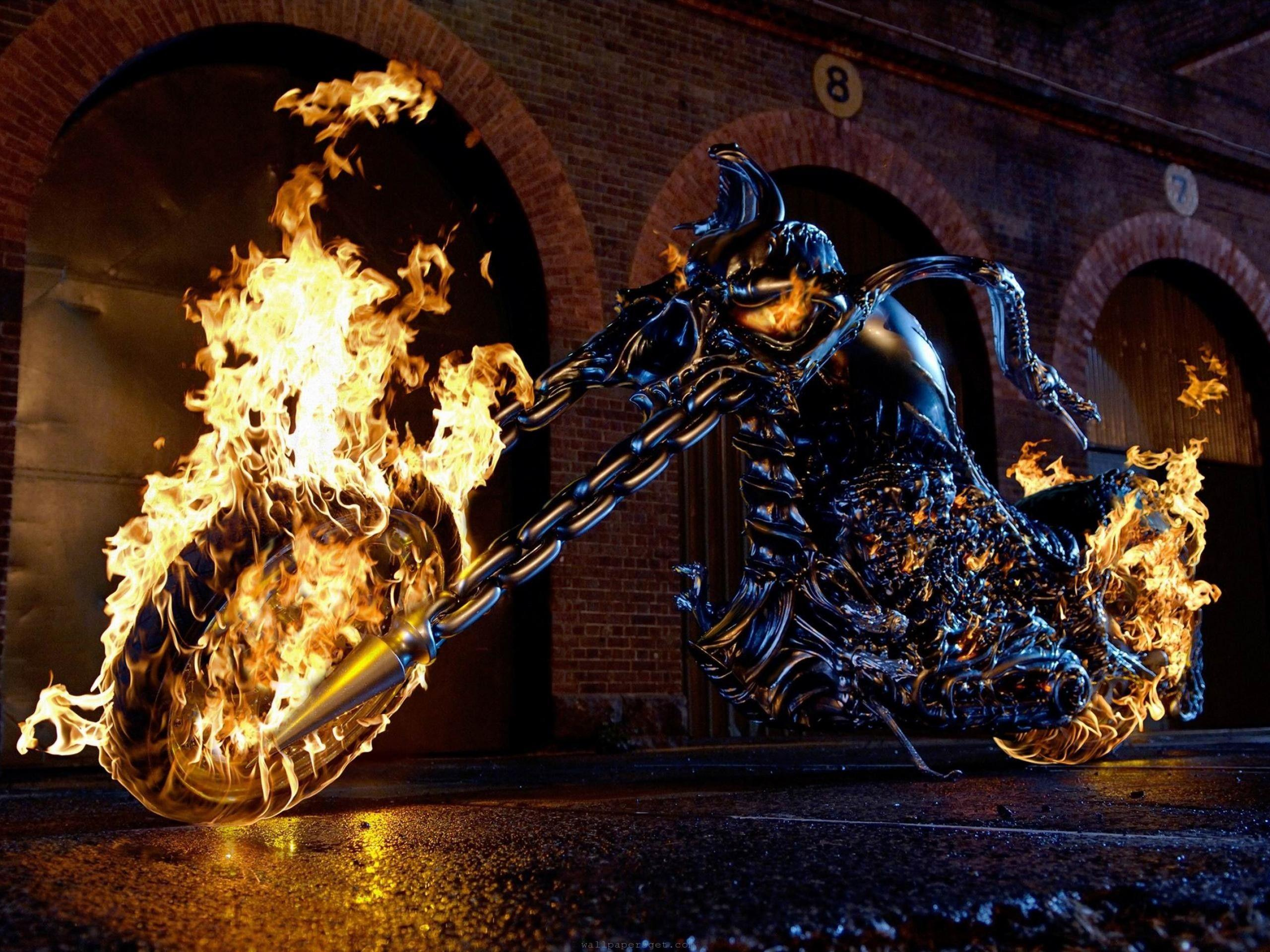 Download the Ghost Rider Bike Wallpaper, Ghost Rider Bike iPhone