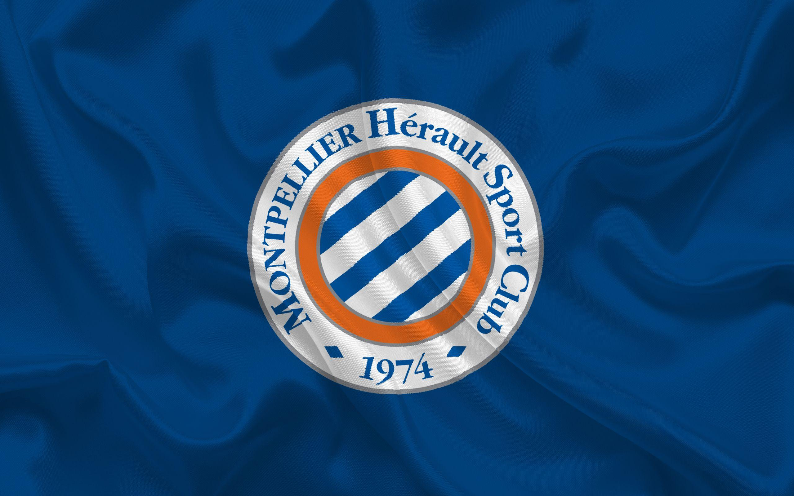 Download wallpapers Montpellier HSC, Football club, emblem