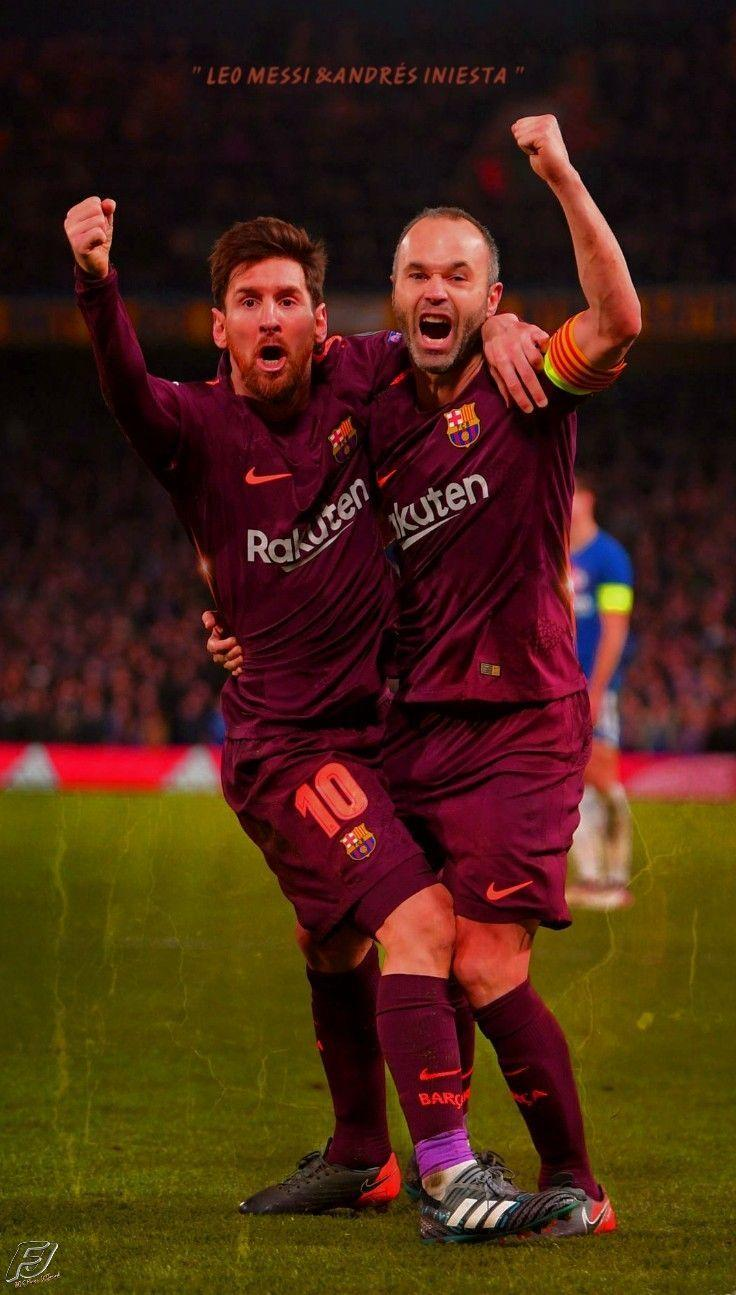 Messi And Iniesta Wallpapers Wallpaper Cave