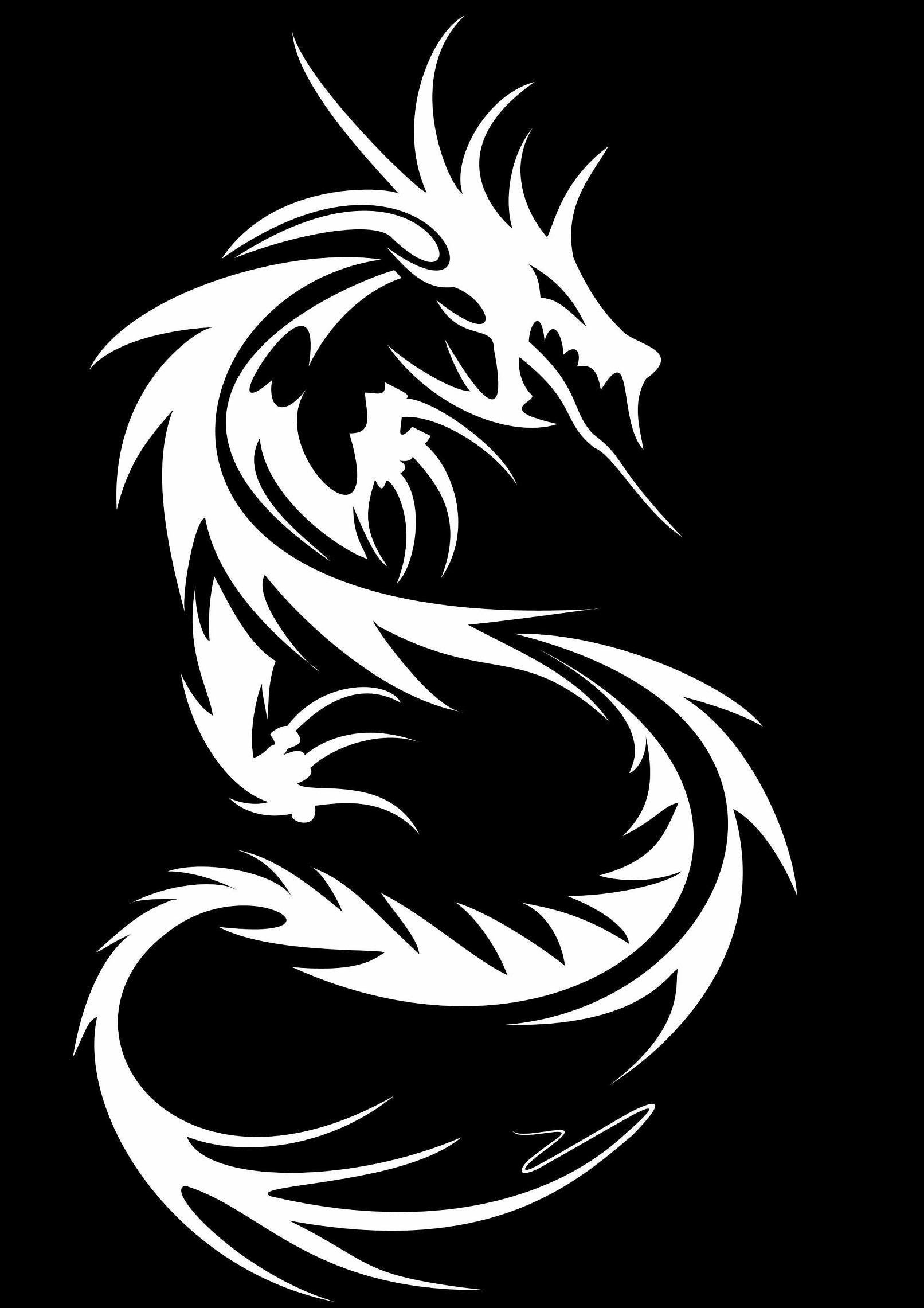 Black Dragon Tribal Wallpapers Wallpaper Cave