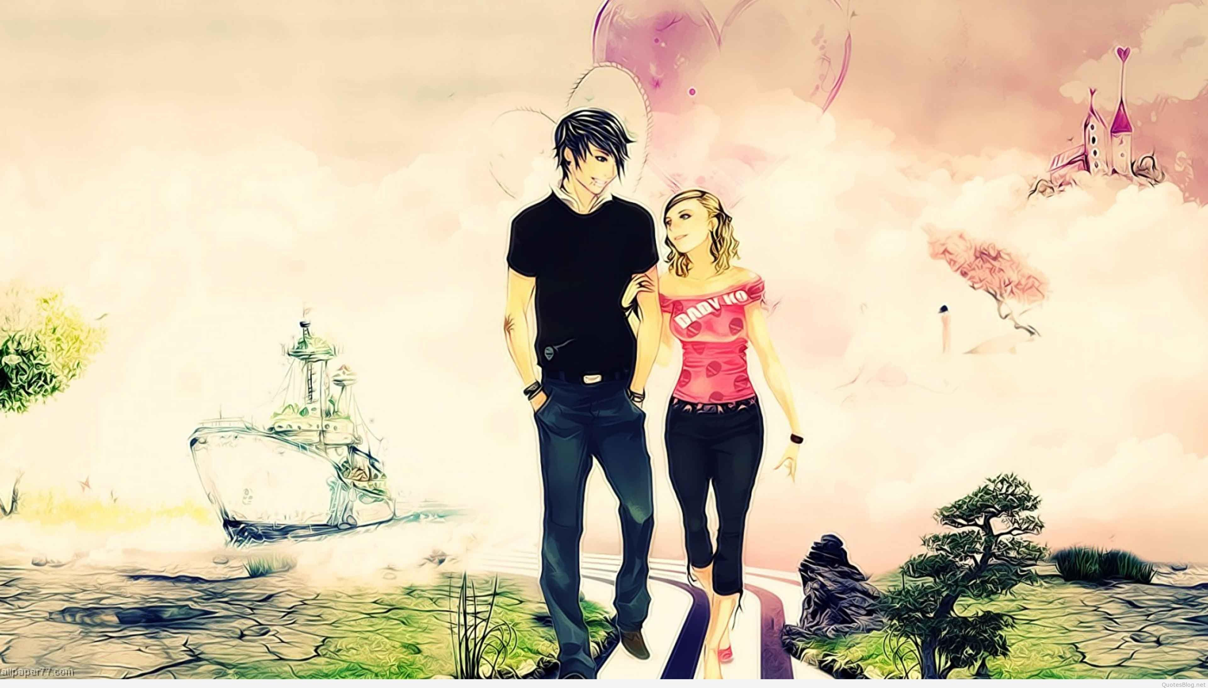 3d Love Couple Wallpapers Wallpaper Cave