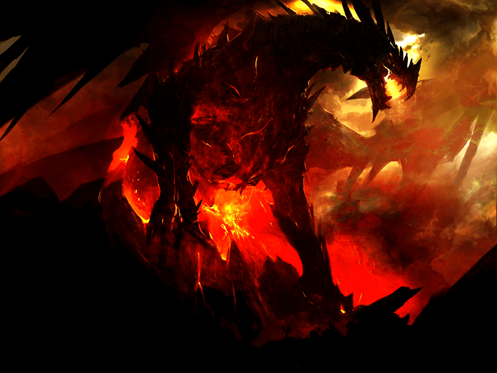 Red Black Dragon Wallpapers - Wallpaper Cave