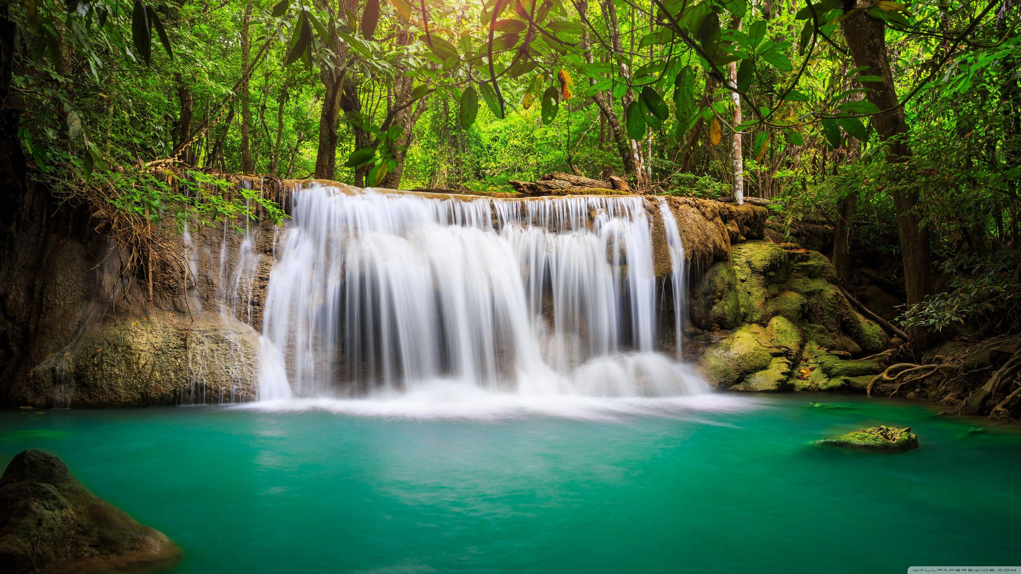 Rainforest Waterfall Wallpapers Wallpaper Cave