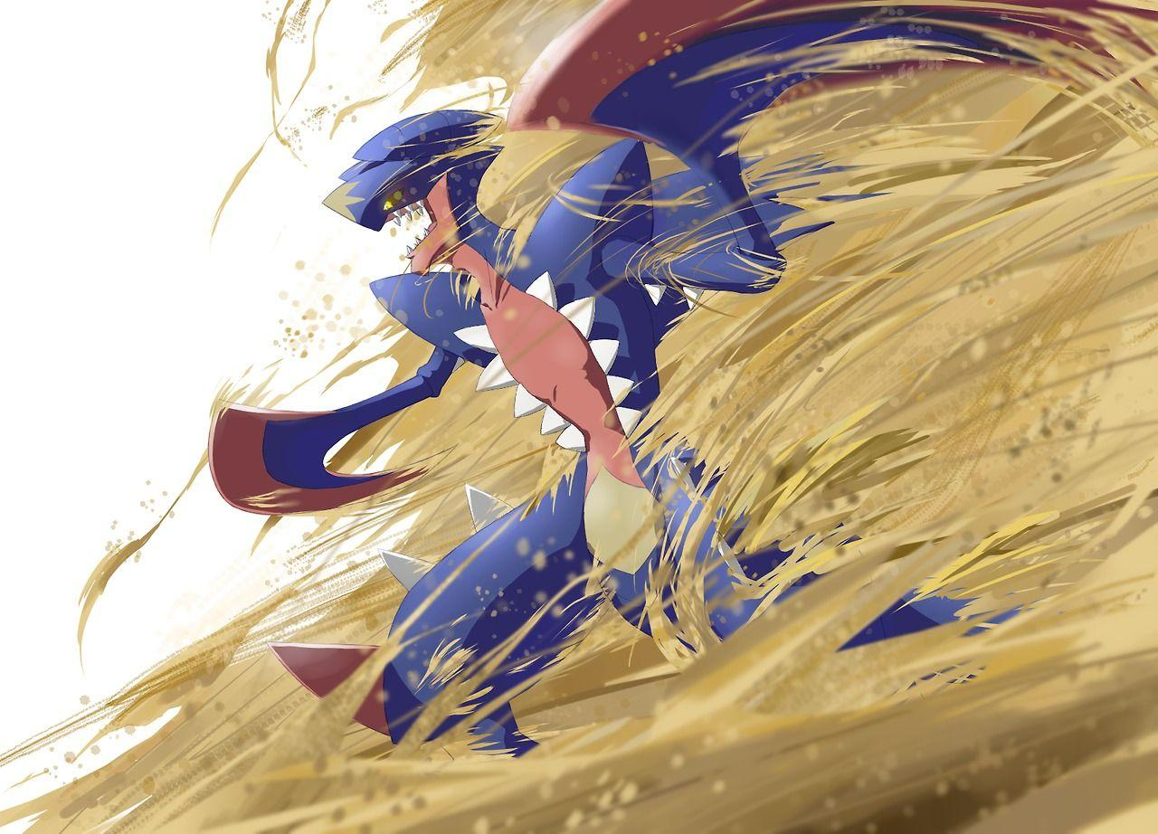 Whoever the artist is, they did Mega Garchomp perfect!