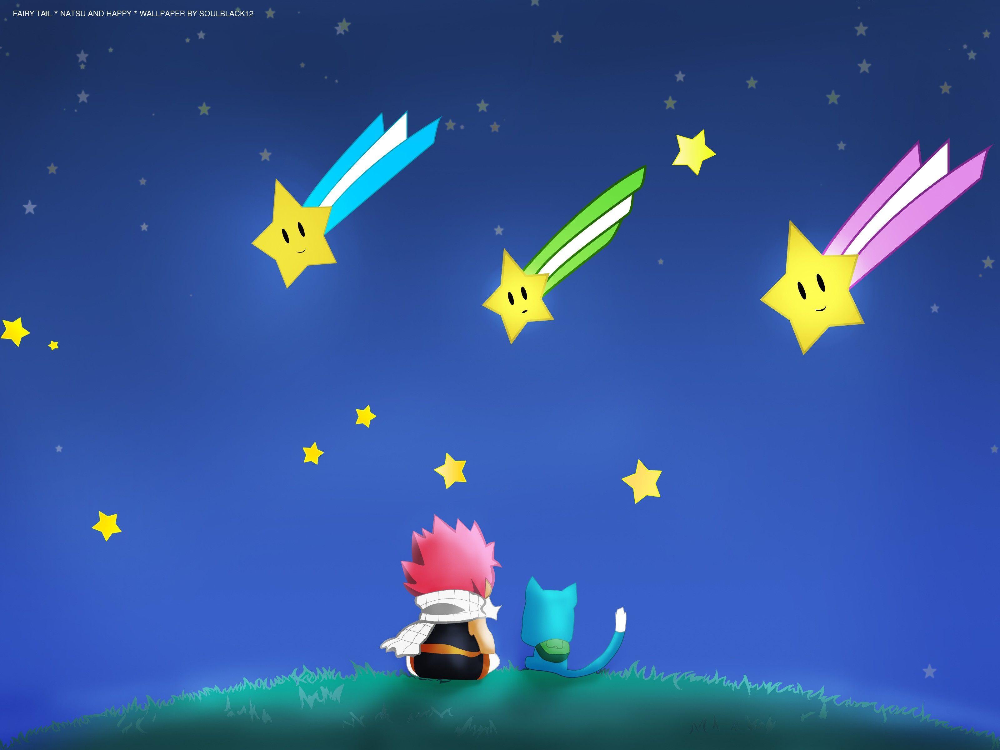 Stars happy fairy tail dragneel natsu anime anime boys manga happy .