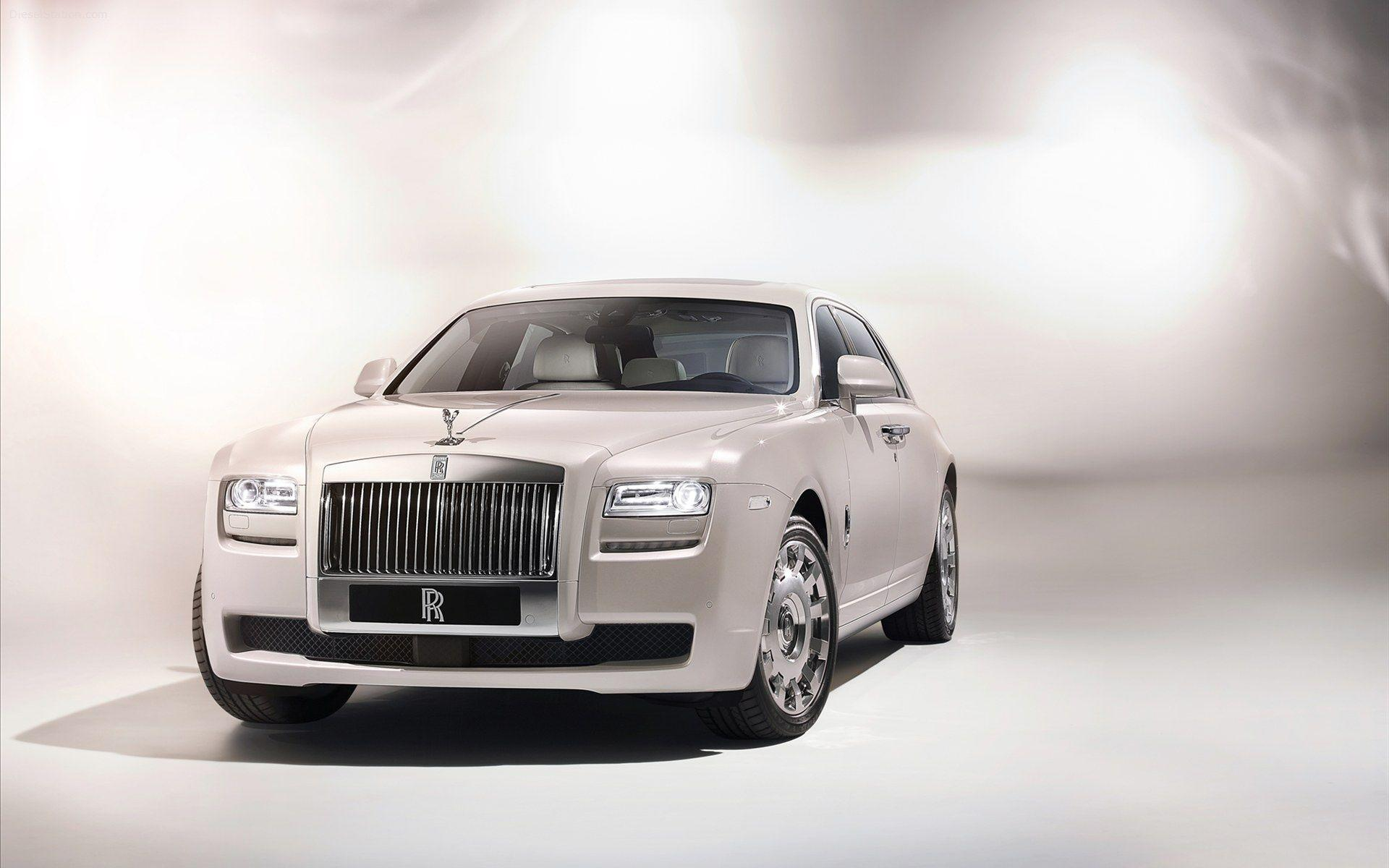 Rolls Royce Ghost Whit HD Wallpaper, Backgrounds Image