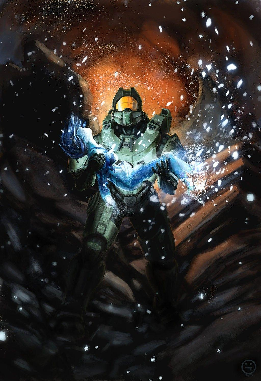Cortana Y Master Chief Wallpapers Wallpaper Cave
