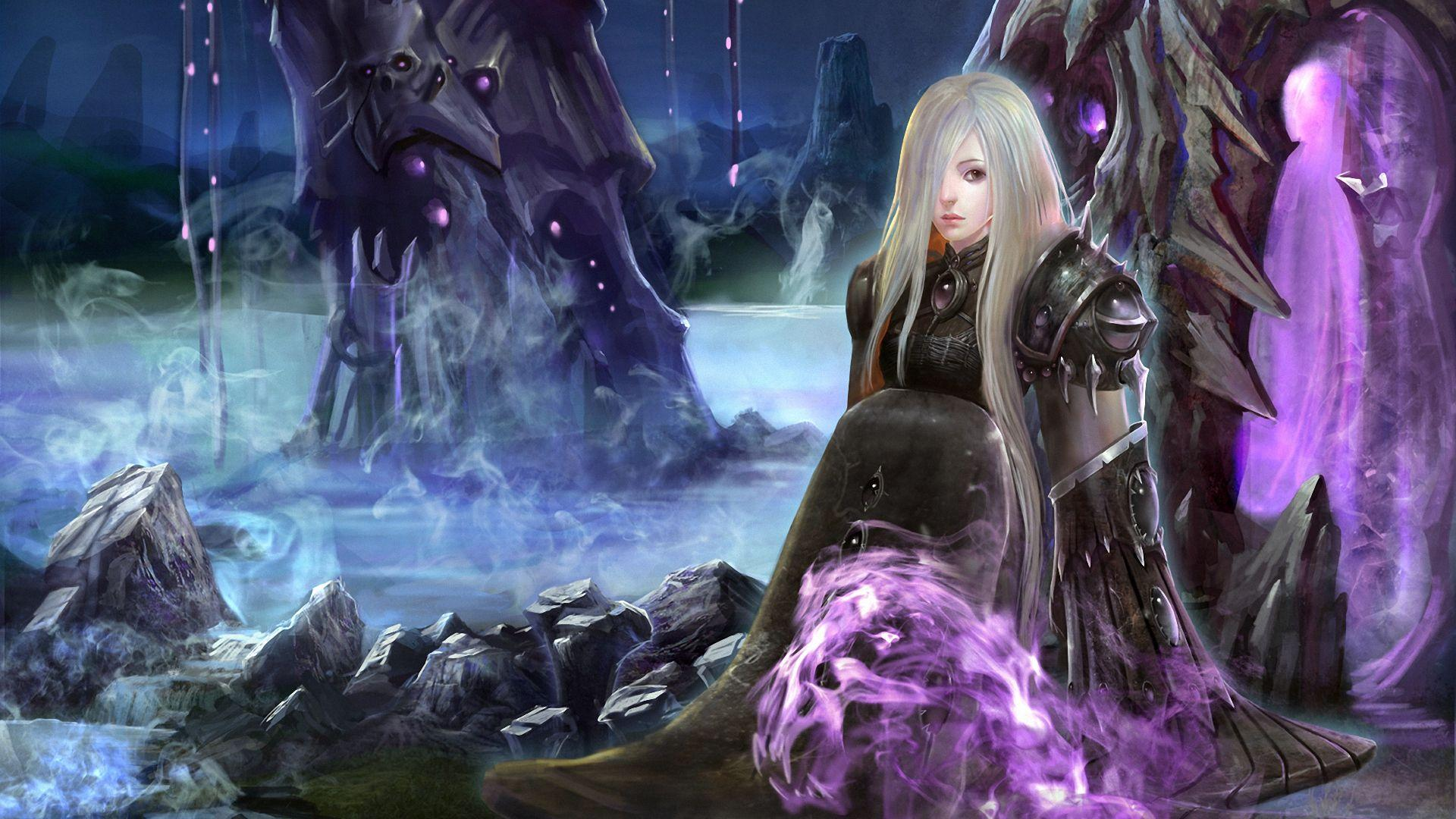 Download wallpapers 1920x1080 wow, shadow priest, art full hd, hdtv