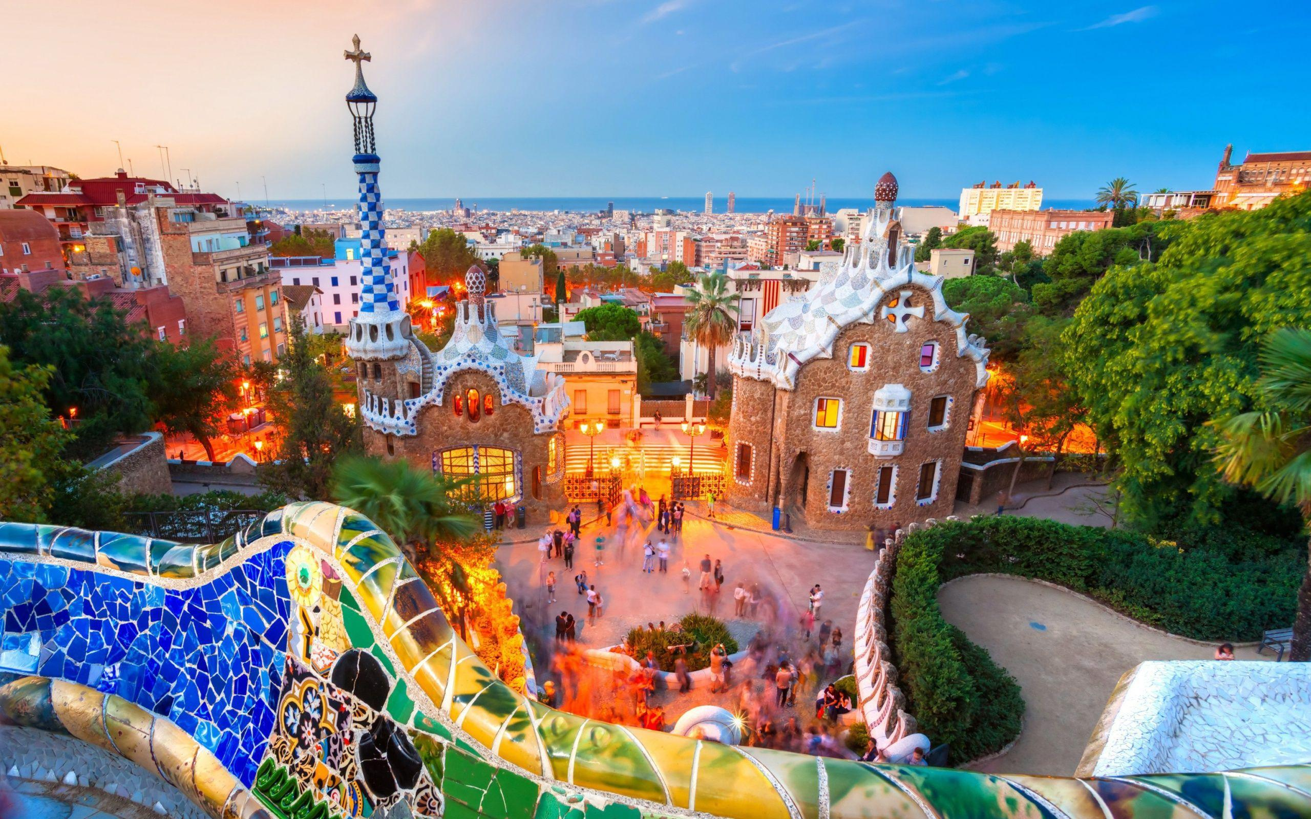 Woderful Park Guell Barcelona Spain wallpapers
