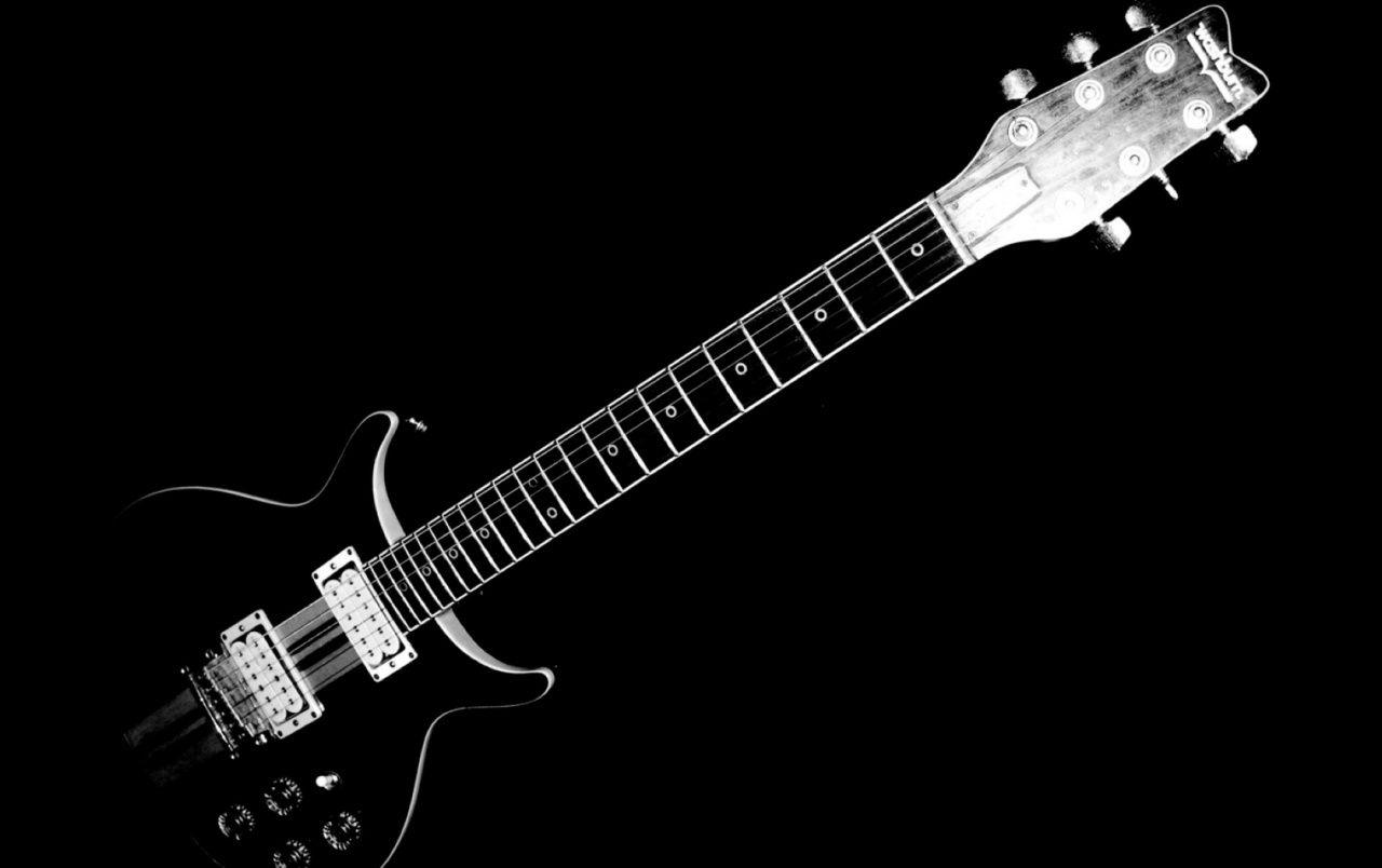 Black and White Electric Guitar wallpapers | Black and White ...