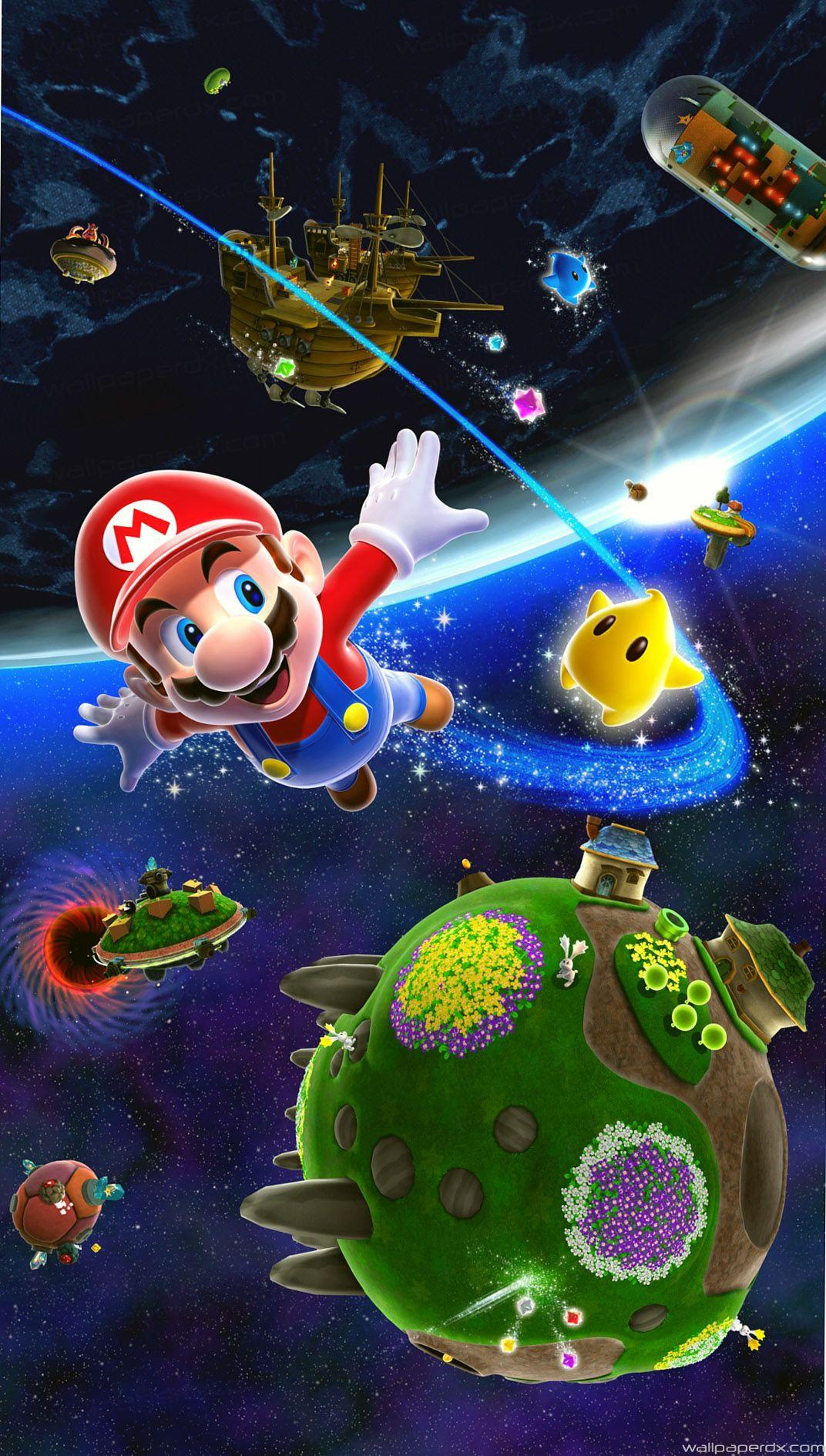 Mario Galaxy Wallpapers Wallpaper Cave