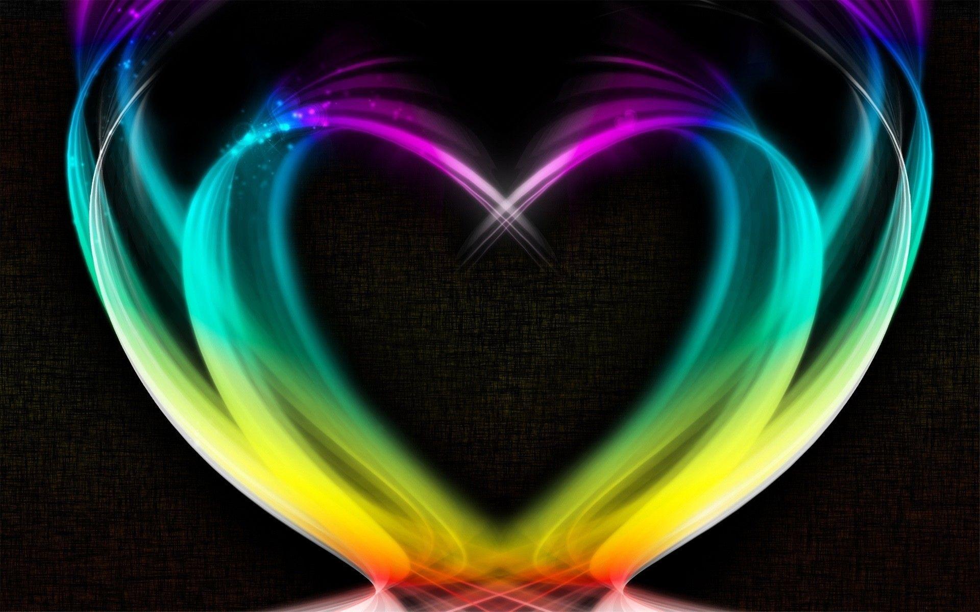 Rainbow Heart Backgrounds Wallpaper Cave