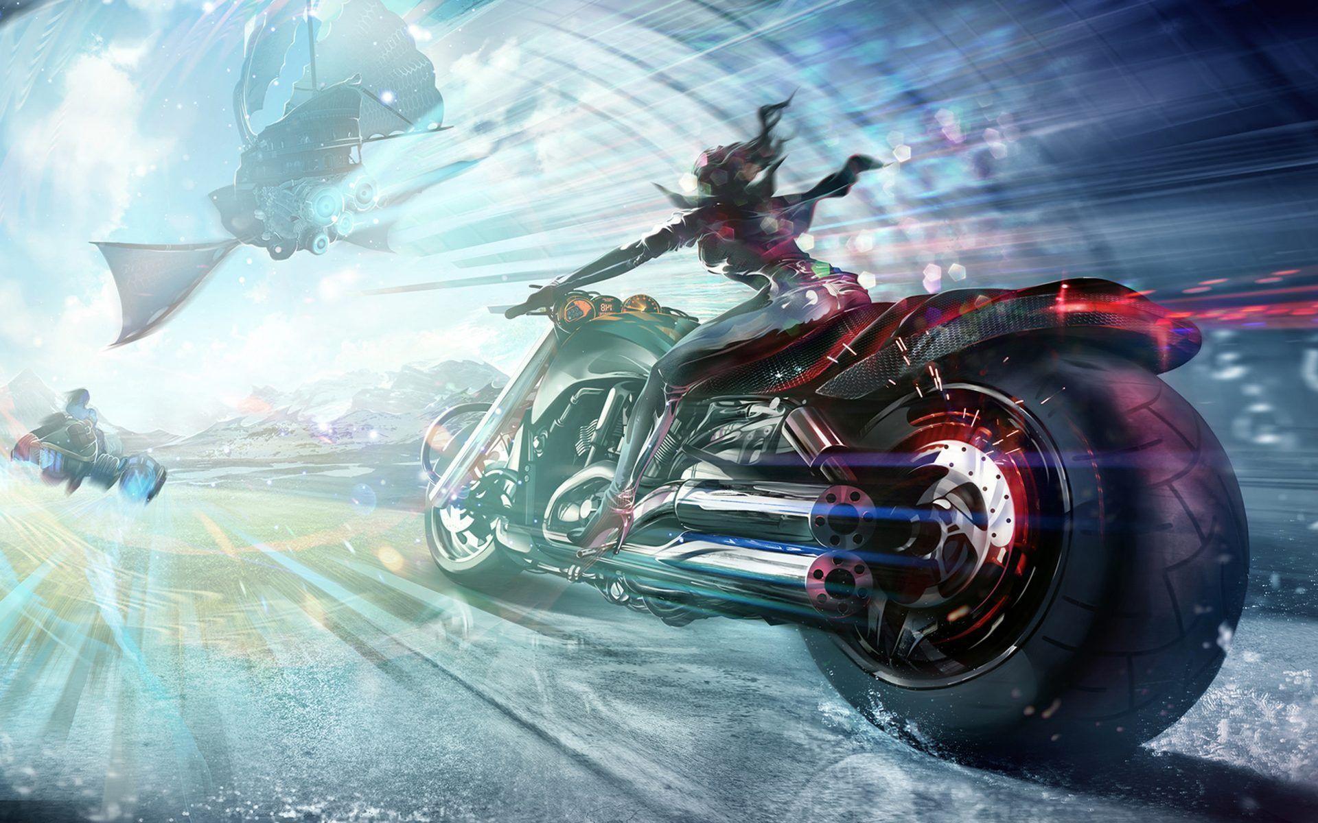 Motorcycle Art Wallpapers - Wallpaper Cave