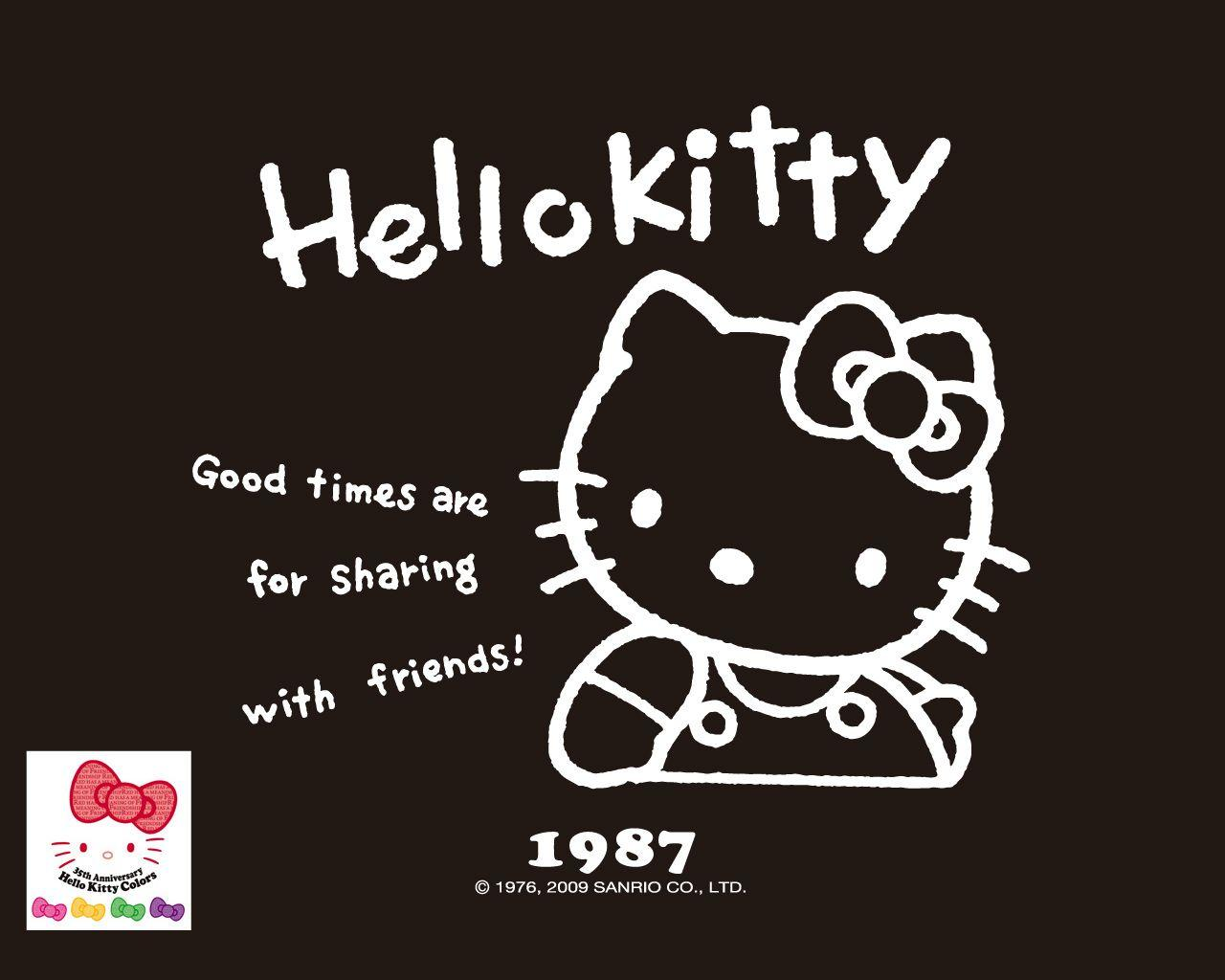 Hello Kitty Wallpapers Black And Pink Wallpaper Cave