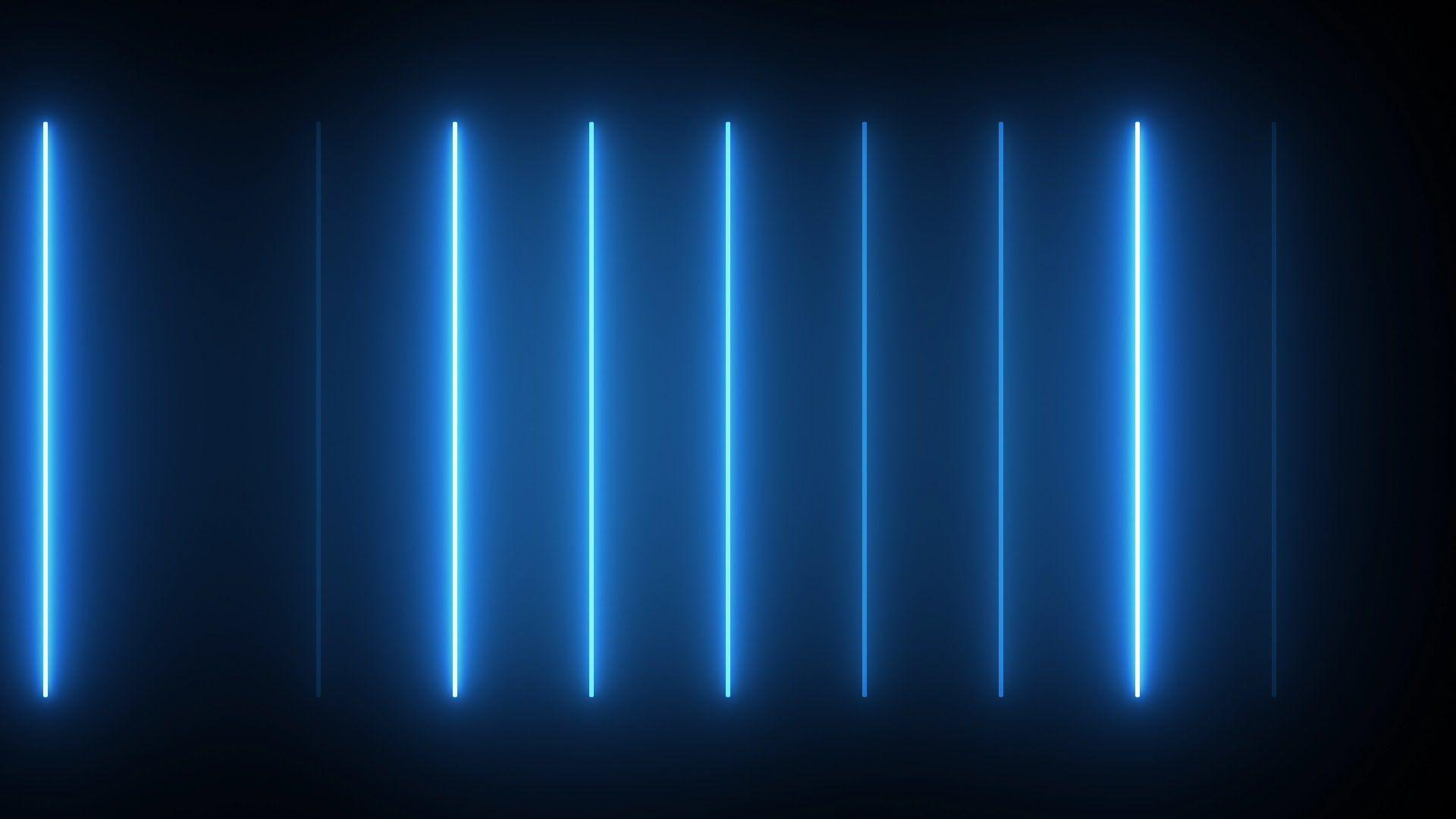 neon blue lights - HD 1920×1080