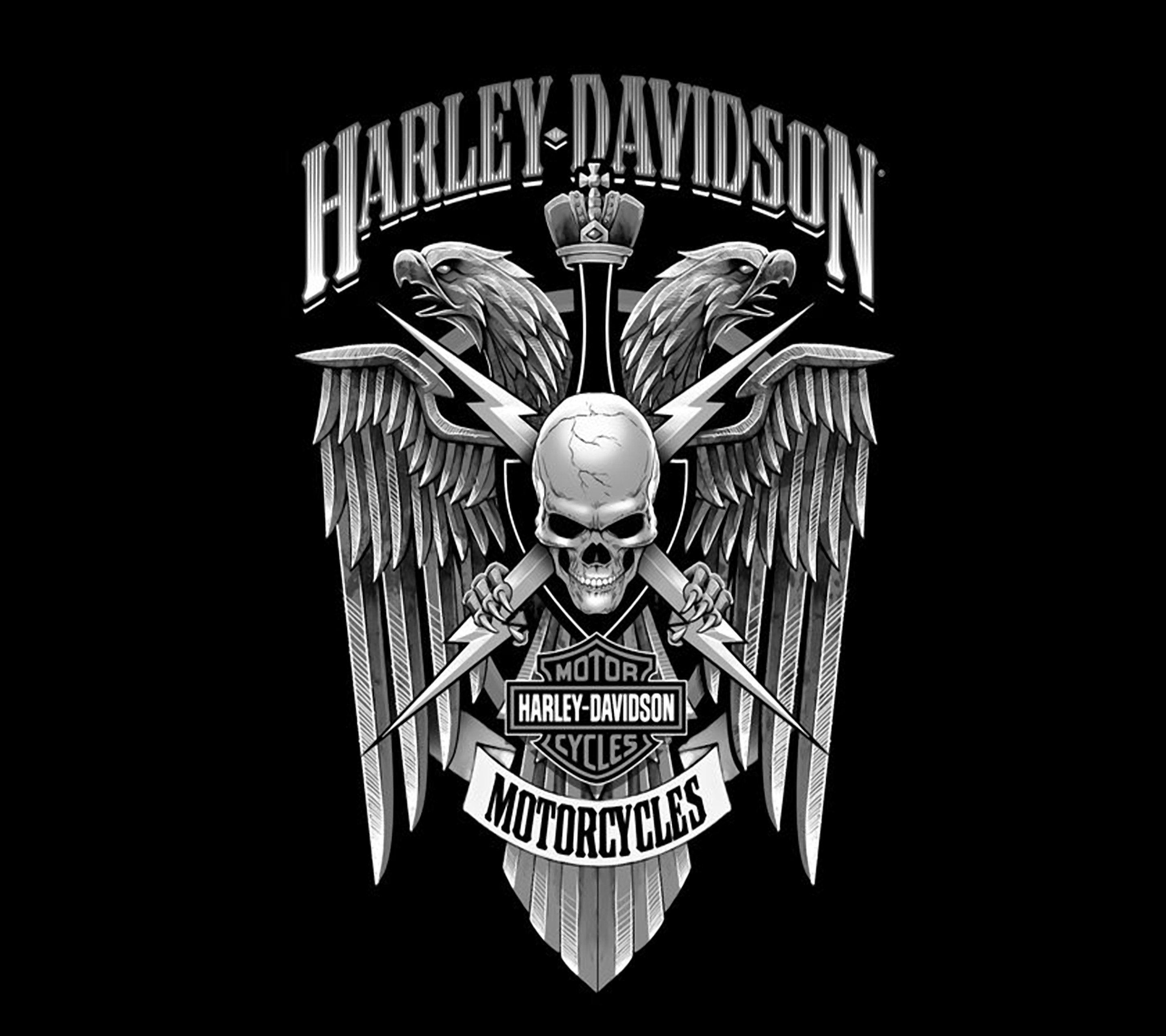 Harley Davidson Skull Wallpapers Wallpaper Cave