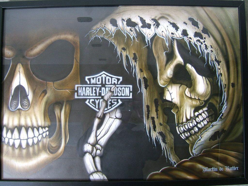 Harley Davidson Skull Wallpapers Hd Wallpaper Cave