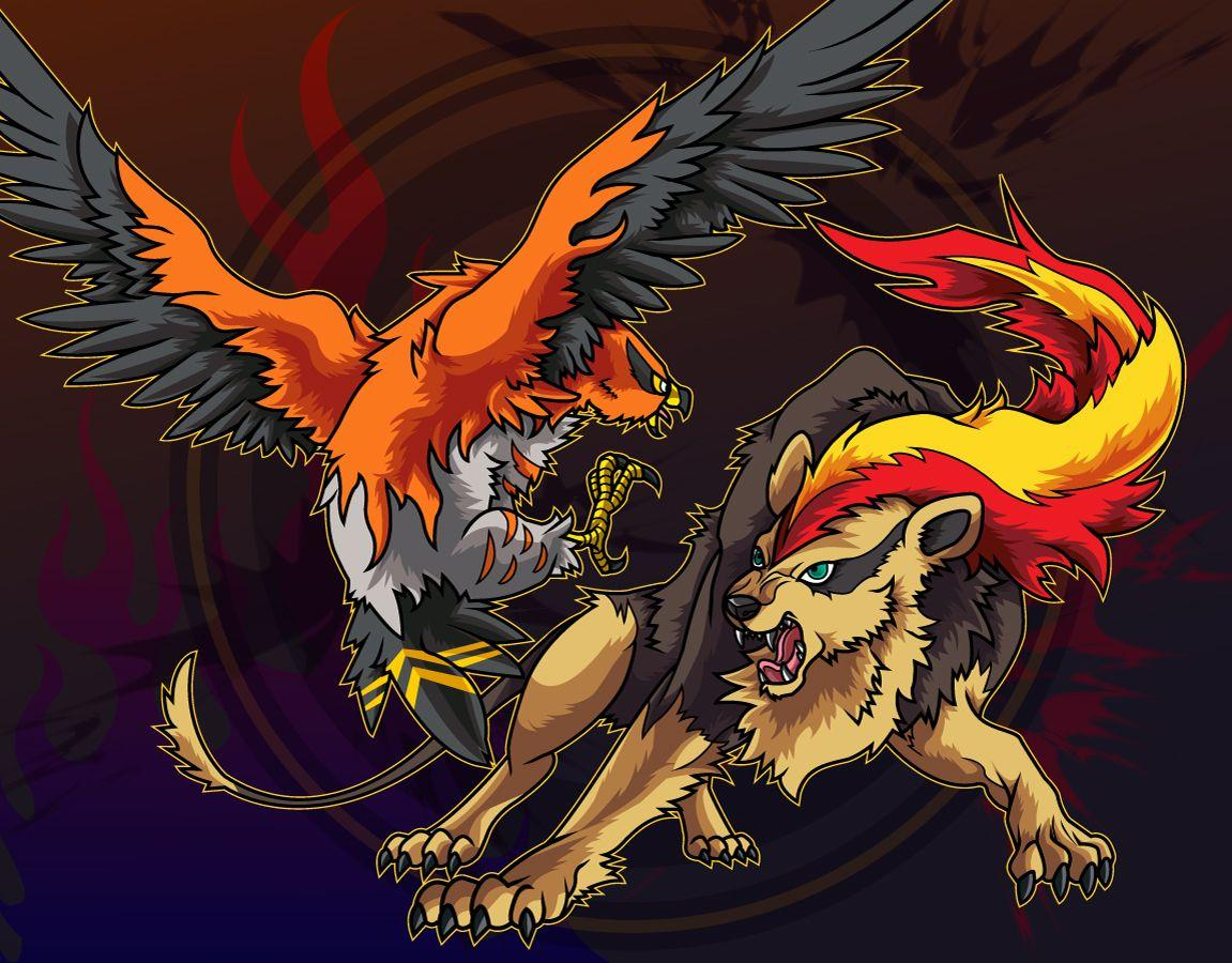 Talonflame and Pyroar by Belldia on DeviantArt