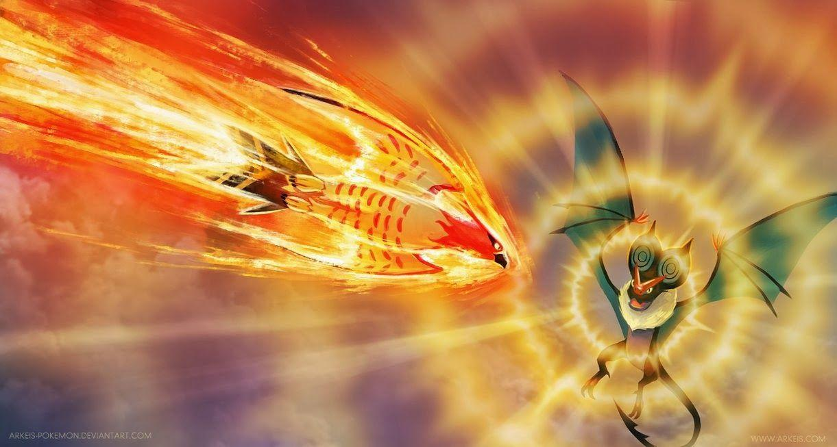 Sky Battle Talonflame vs. Noivern - Go Anime