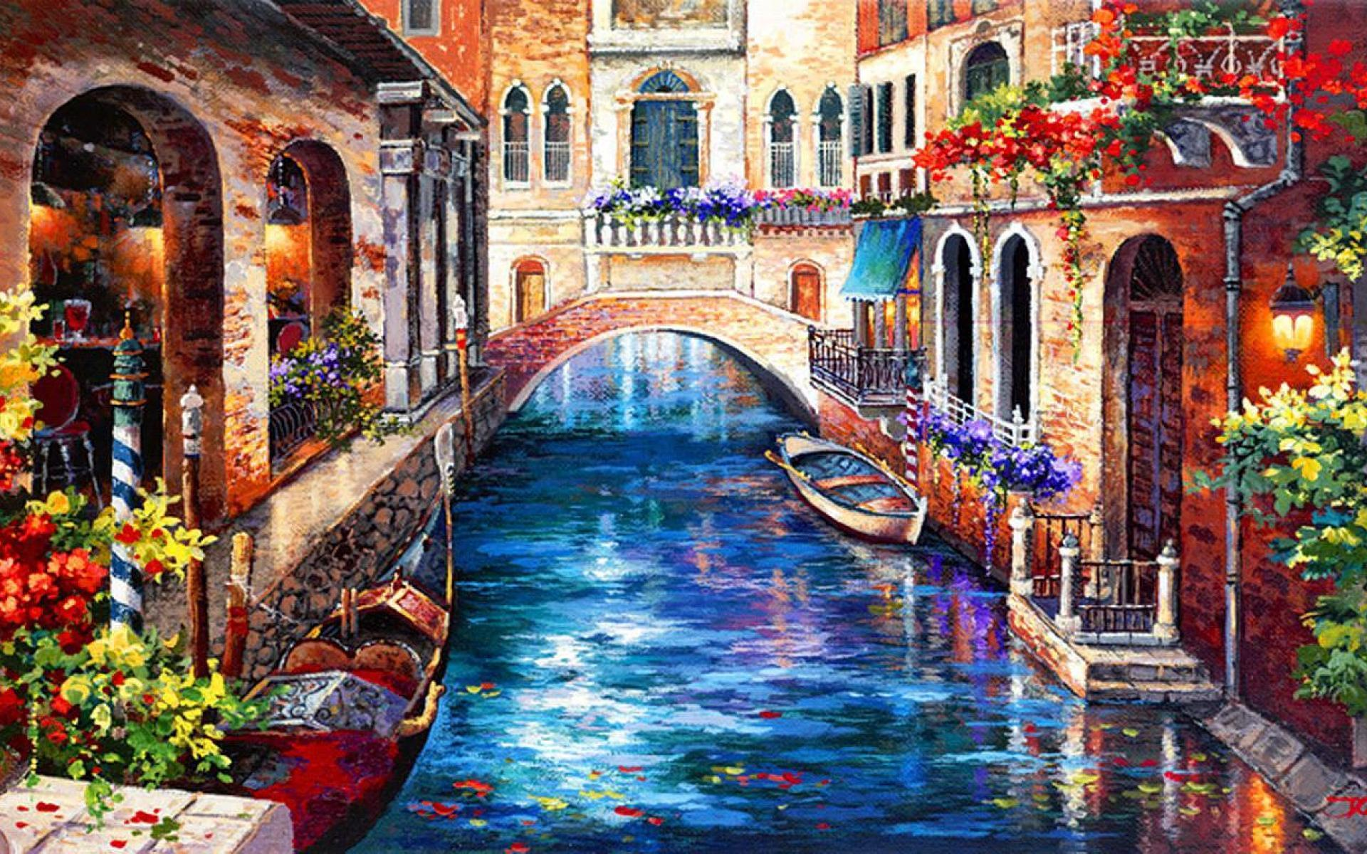 Venice Paintings HD Wallpaper Background Images
