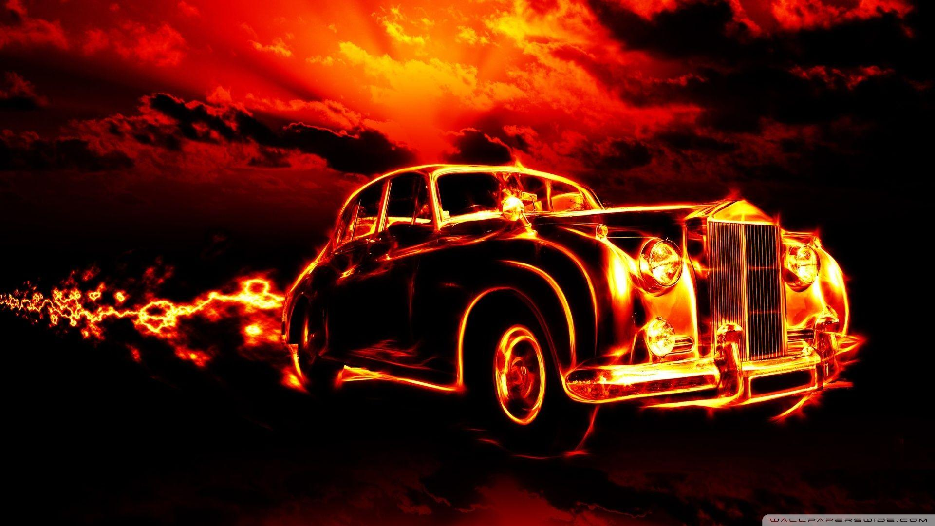 Fire Car Wallpapers Wallpaper Cave