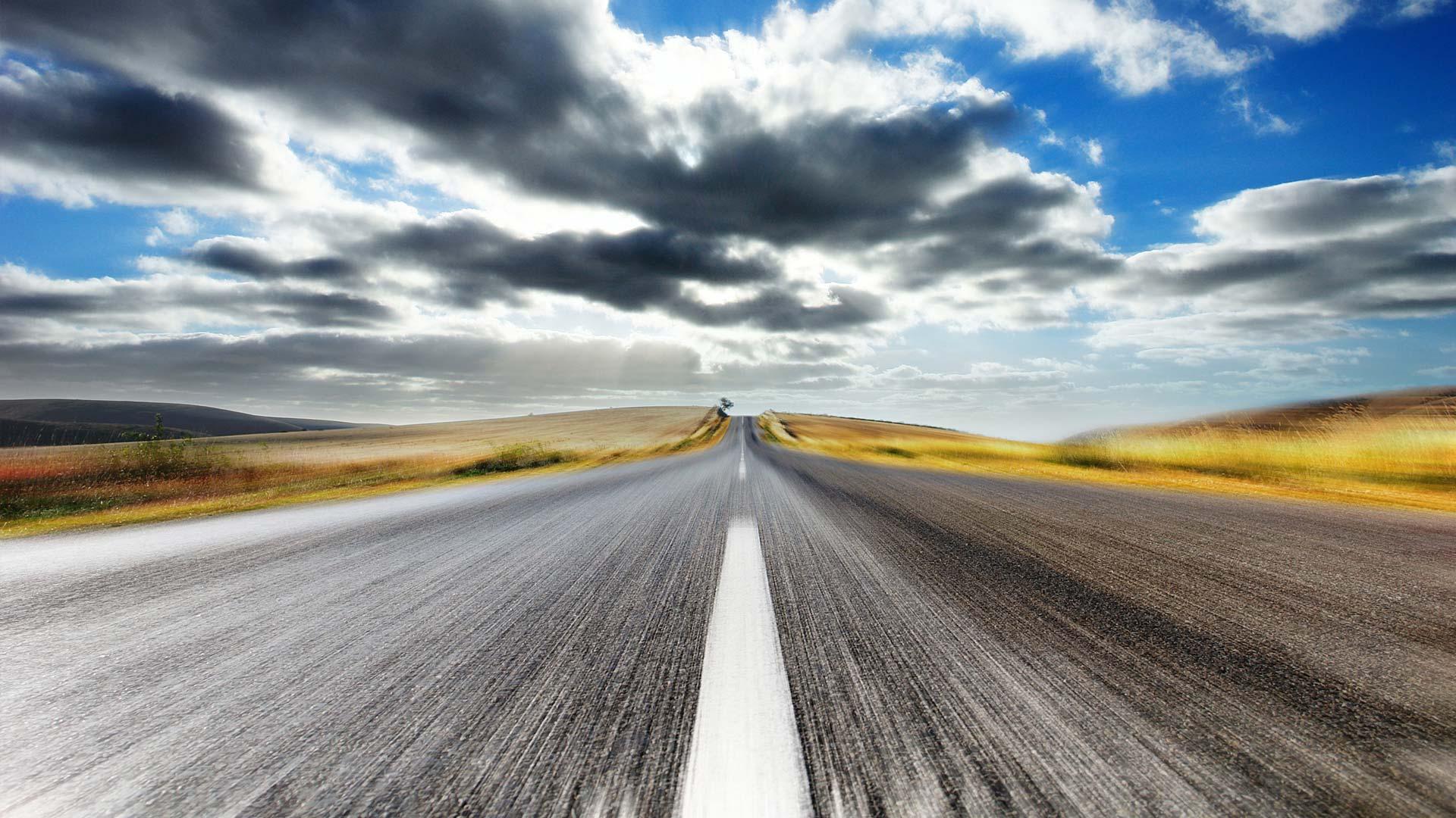 обои скорость дорога обои