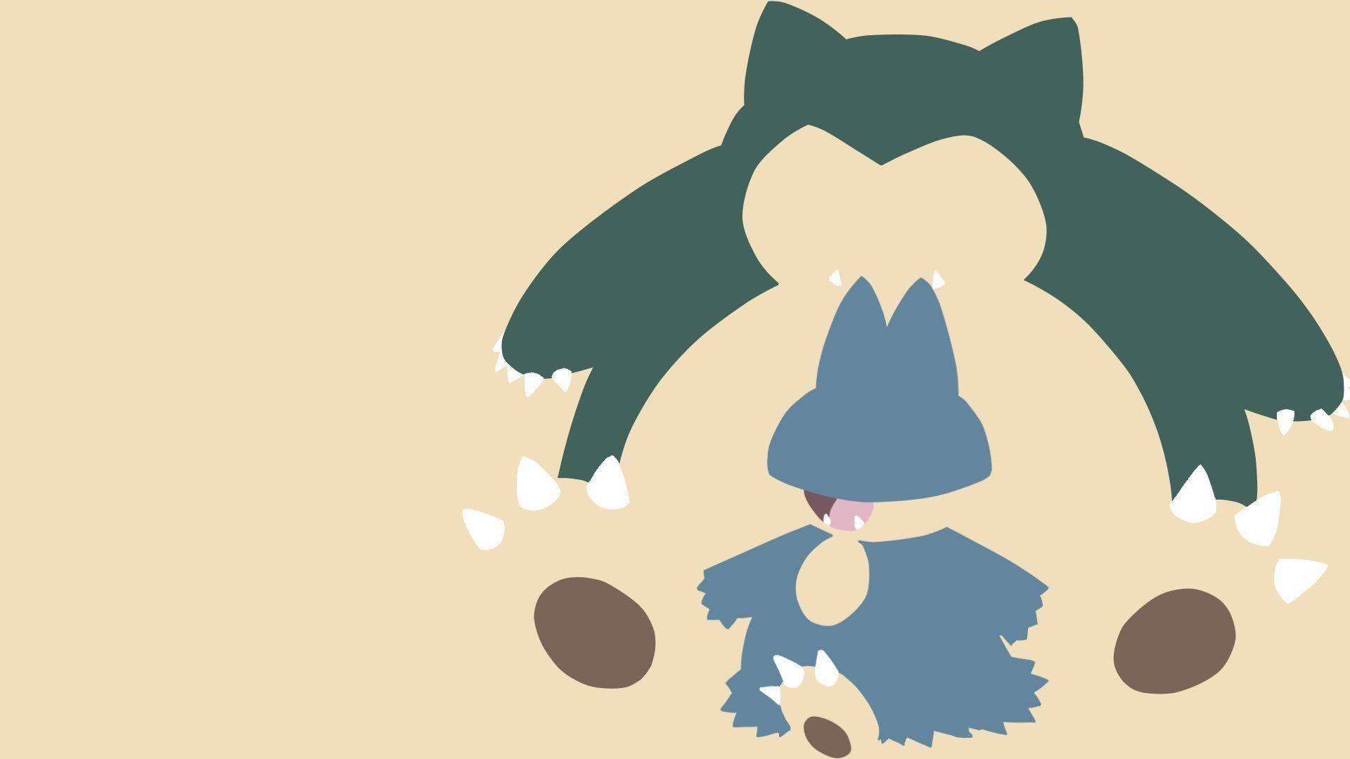 Karl Johnson on Twitter: Snorlax and Munchlax wallpaper! #snorlax ...