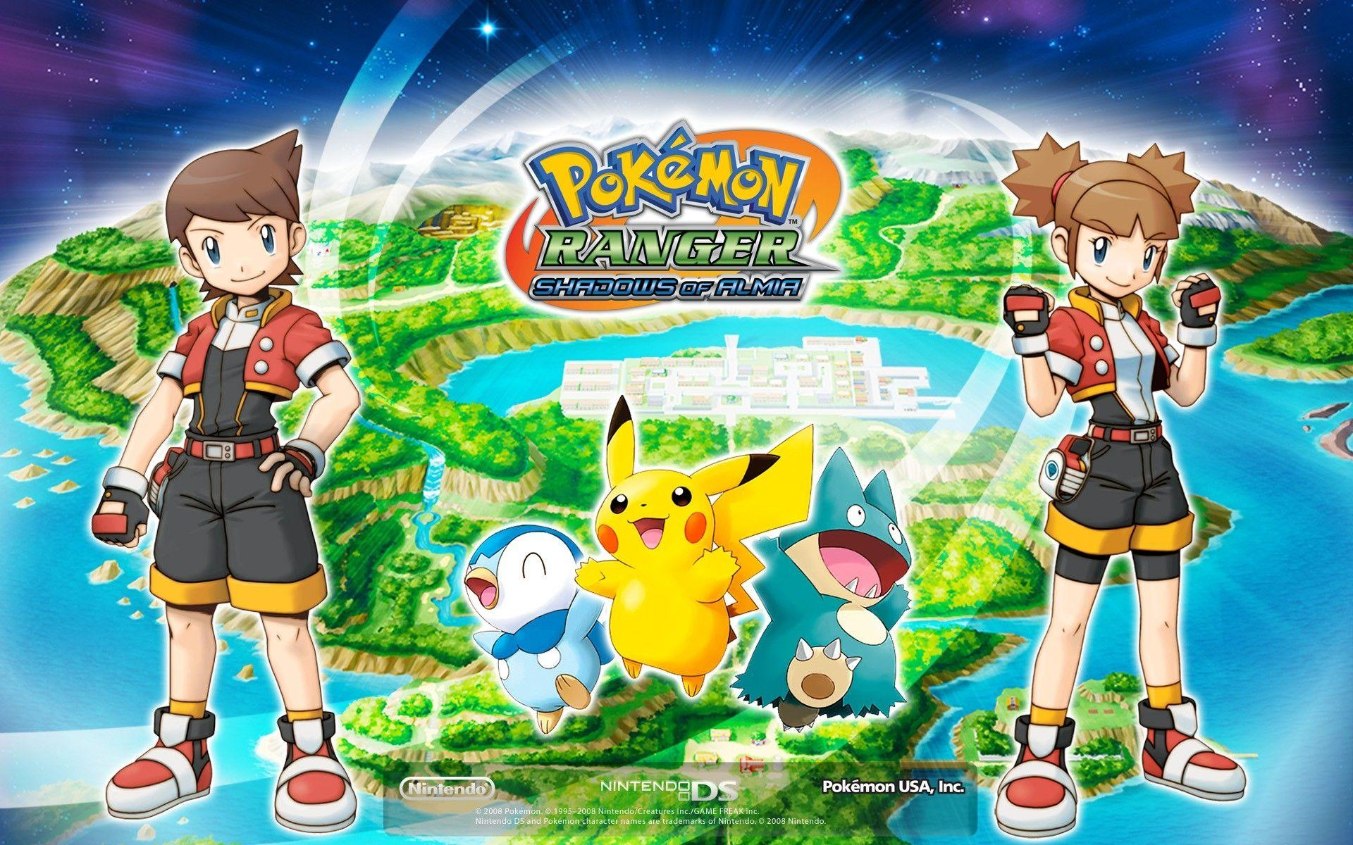 pokemon pikachu piplup munchlax ranger 1920x1200 wallpaper High ...