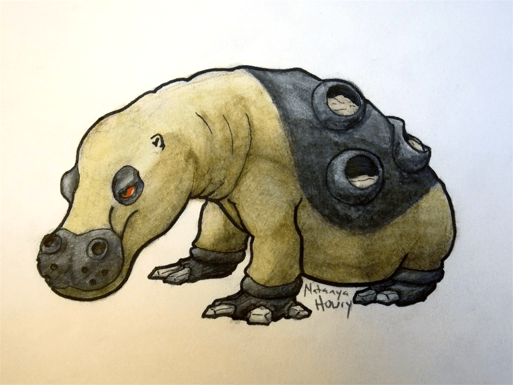 It's Hippowdon! by WyrmsRoost on DeviantArt