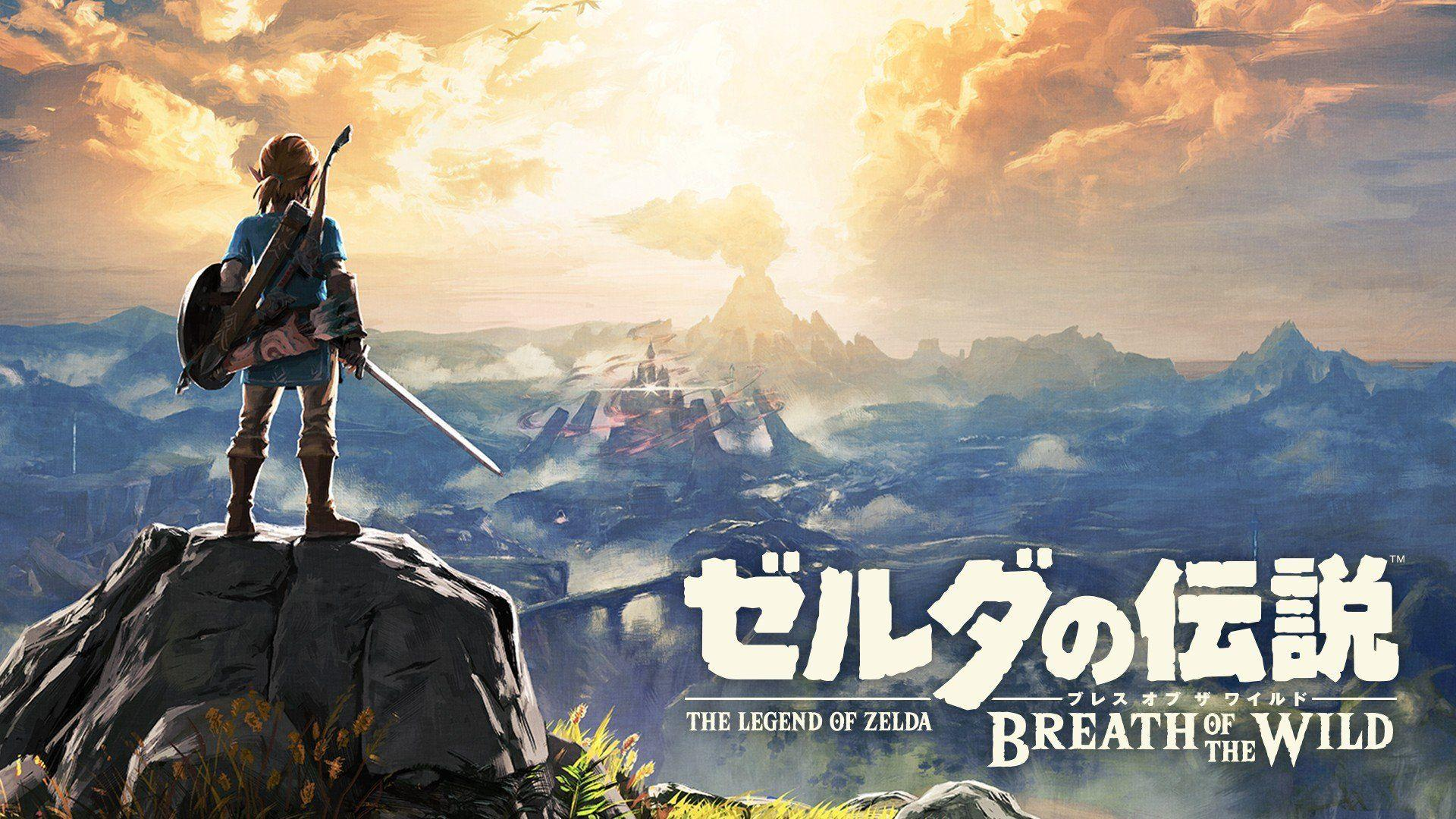 link the legend of zelda breath of the wild rock mountains gamer
