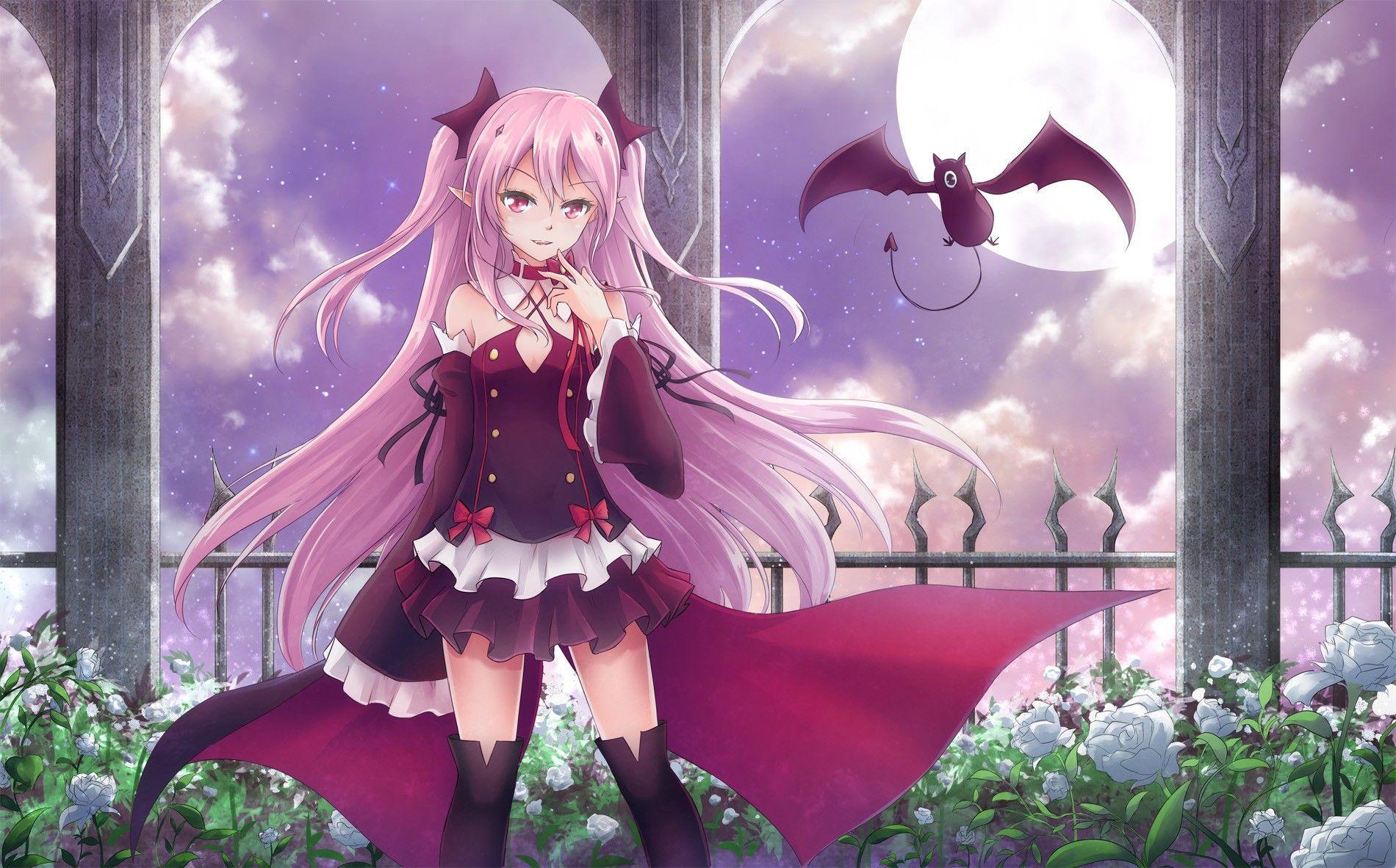 9684 anime vampire girl wallpaper wallpaper wallpaper tags