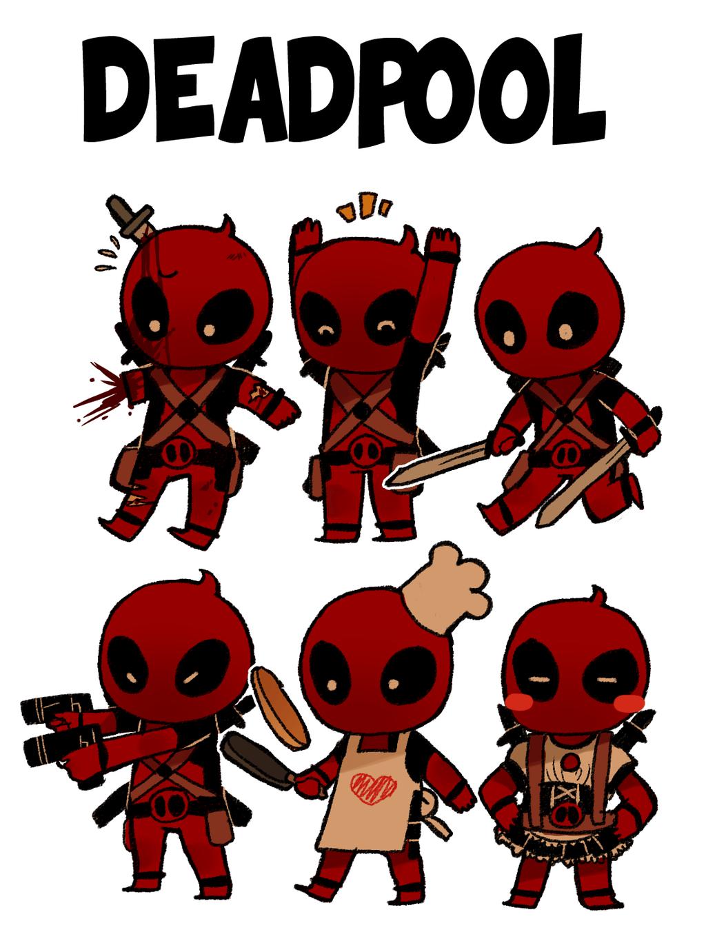 Deadpool Cartoon Wallpapers Wallpaper Cave