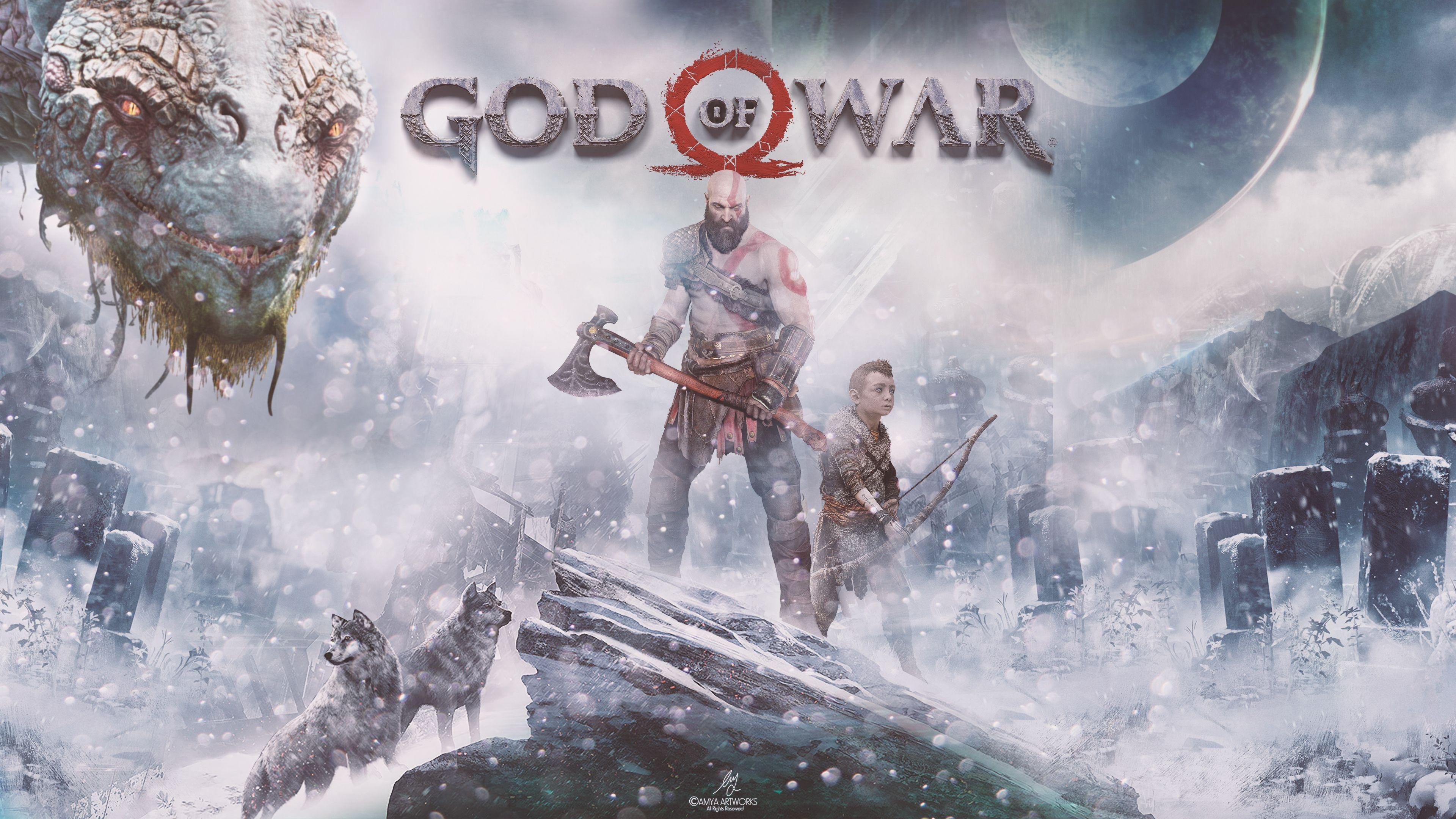 God Of War 4k Wallpapers Wallpaper Cave