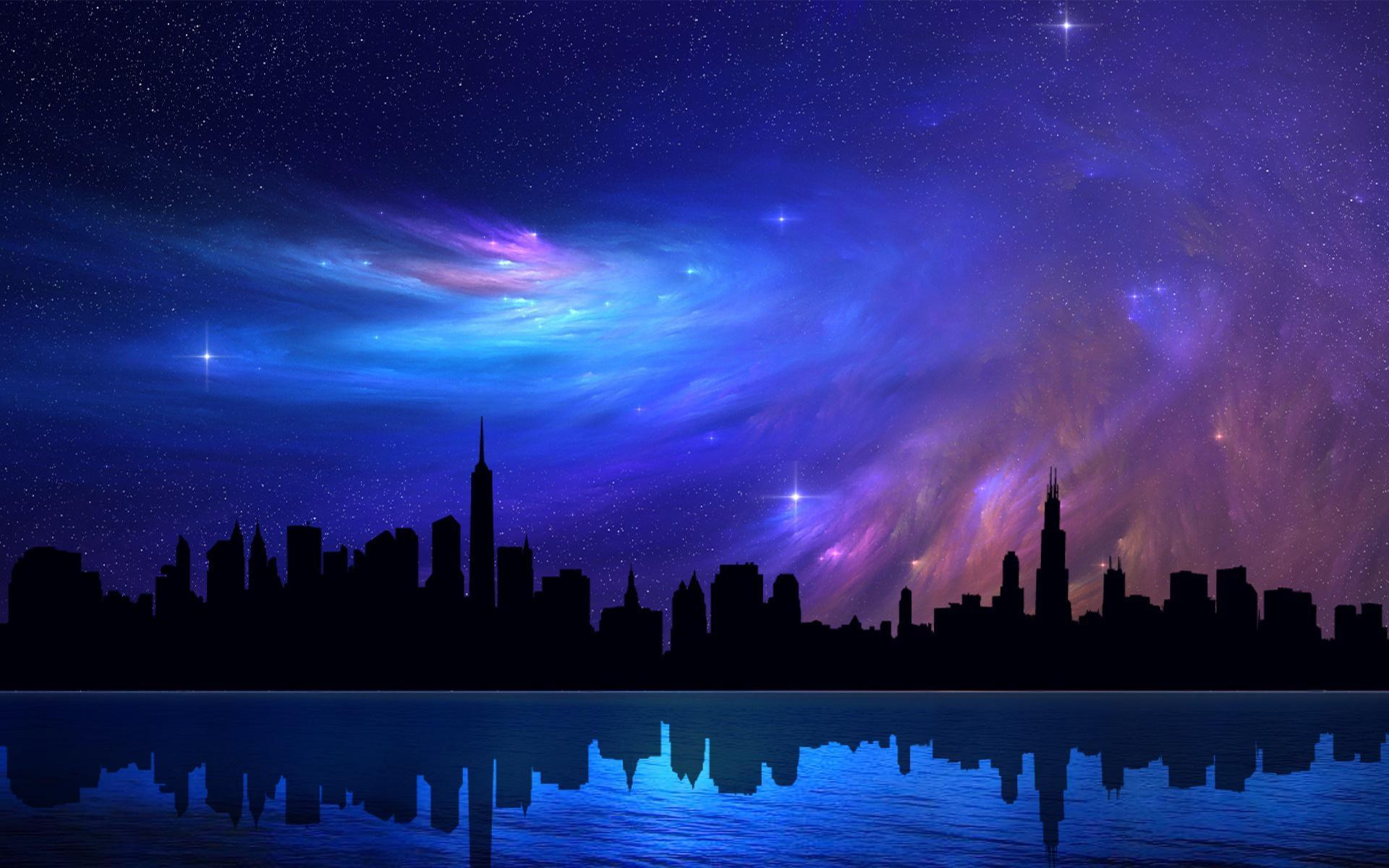 Pretty Night Sky Backgrounds Wallpaper Cave